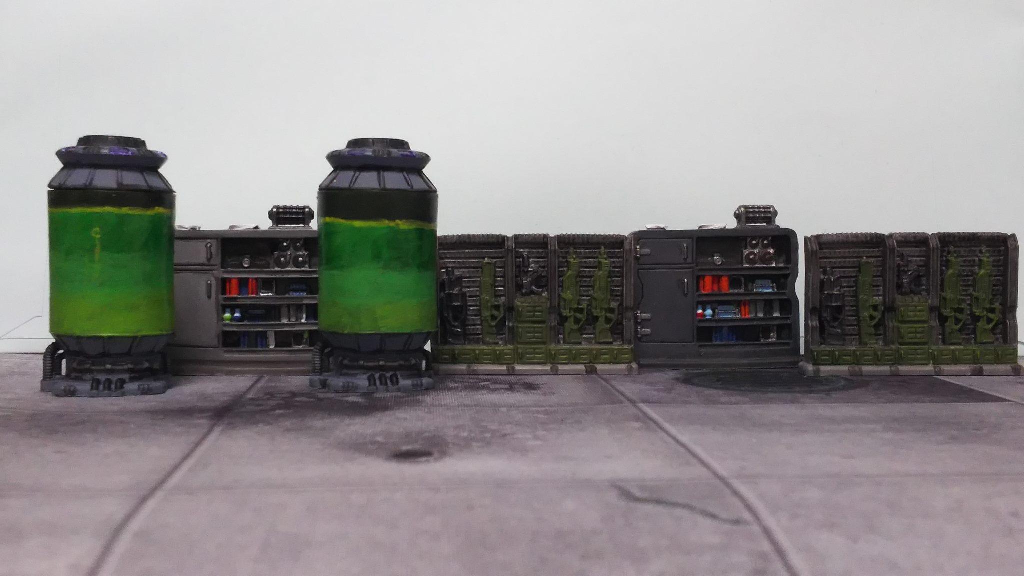 Containment Tank, Furniture, Mantic Terrain Crate, Star Saga, Terrain, Weapon Rack