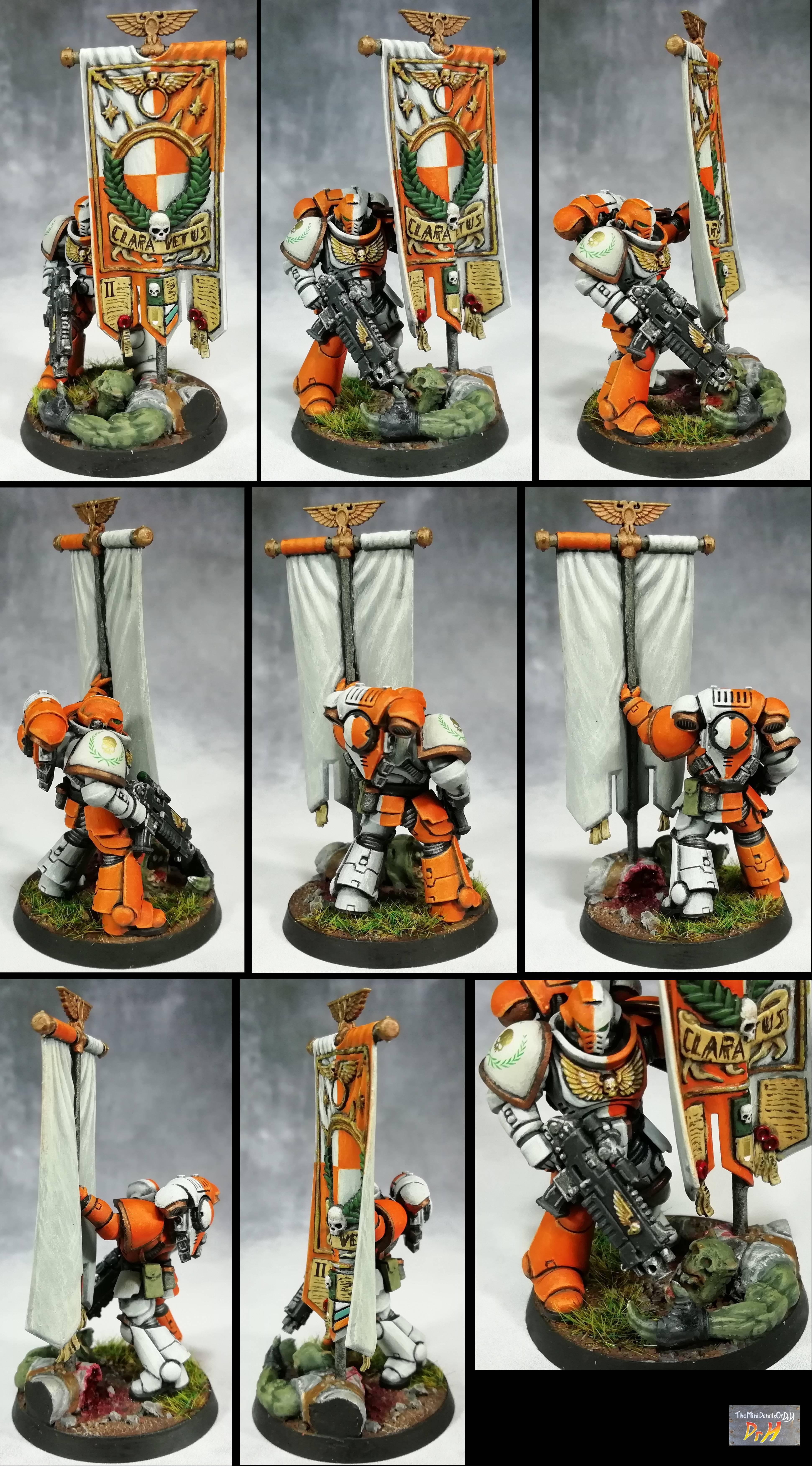 Ancient, Space Marines, Standard Bearer