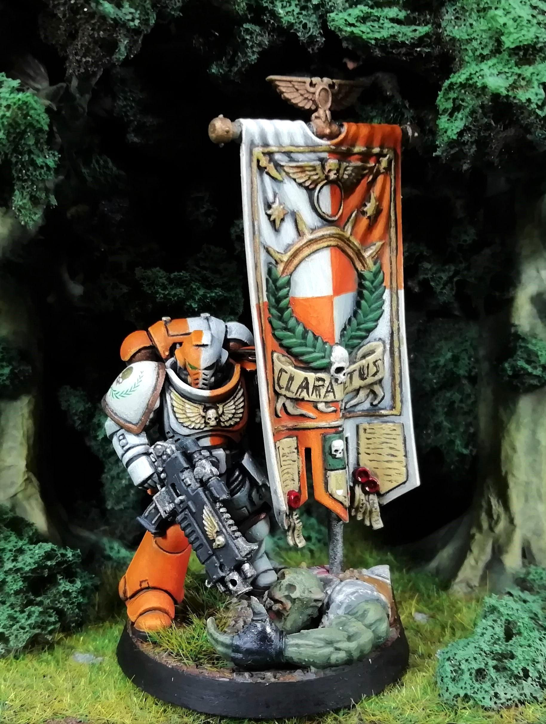 Space Marine Ancient, emerges