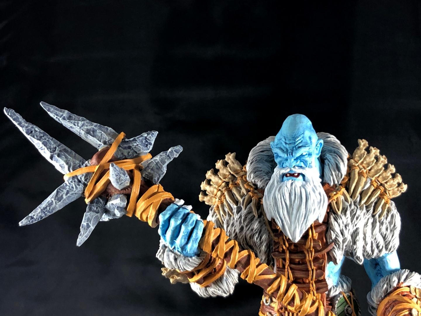Mantic Frost Giant, mantic frost giant, front close up of head