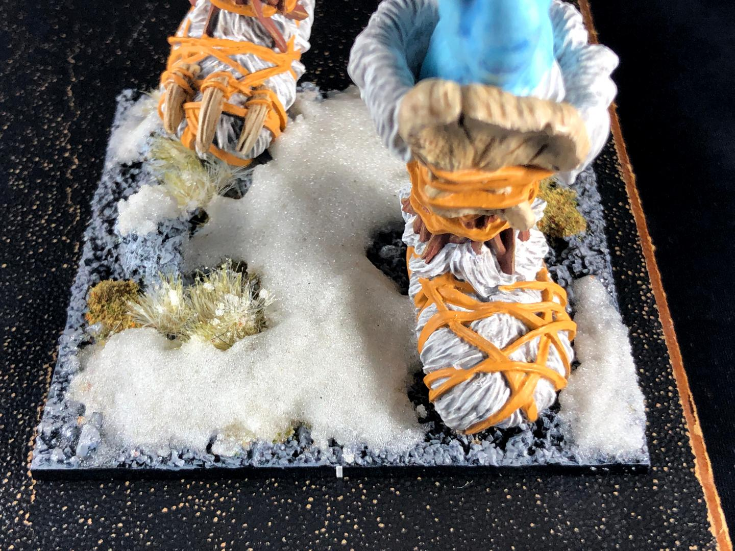 Mantic Frost Giant, mantic frost giant, boot close up
