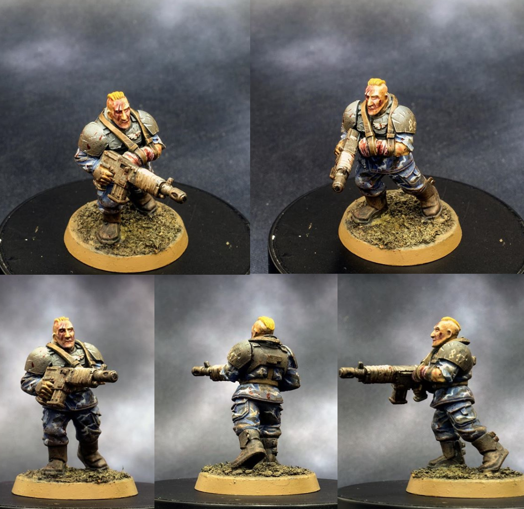 Astra, Grungy, Guard, Imperial, Lasgun, Militarum, Soldier, Wound, Wounded