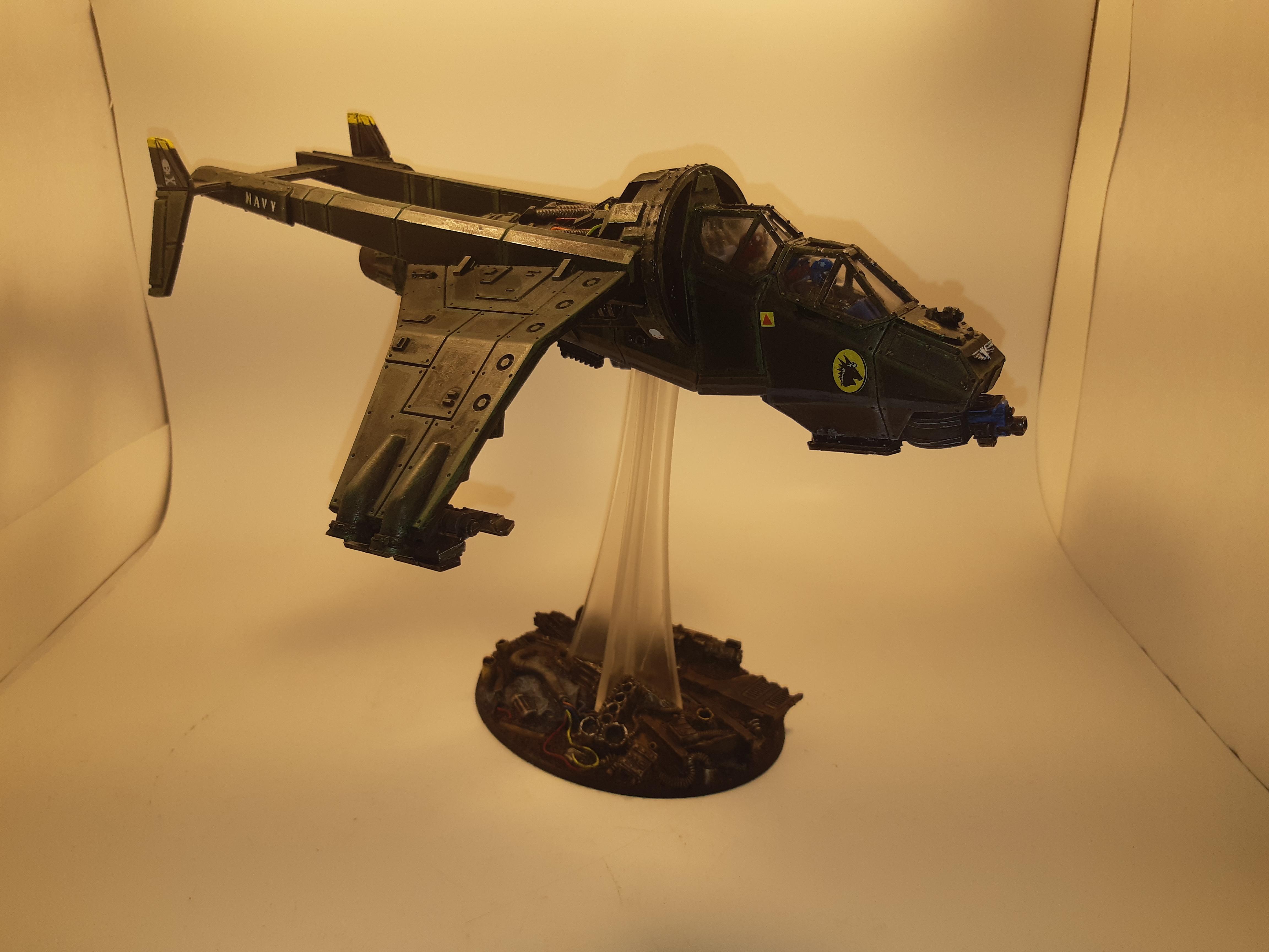 120 Mm, 120mm, Base, Flyer, Forge World, Gunship, Imperial Guard, Kromlech, Oval, Resin, Vulture, Warhammer 40,000