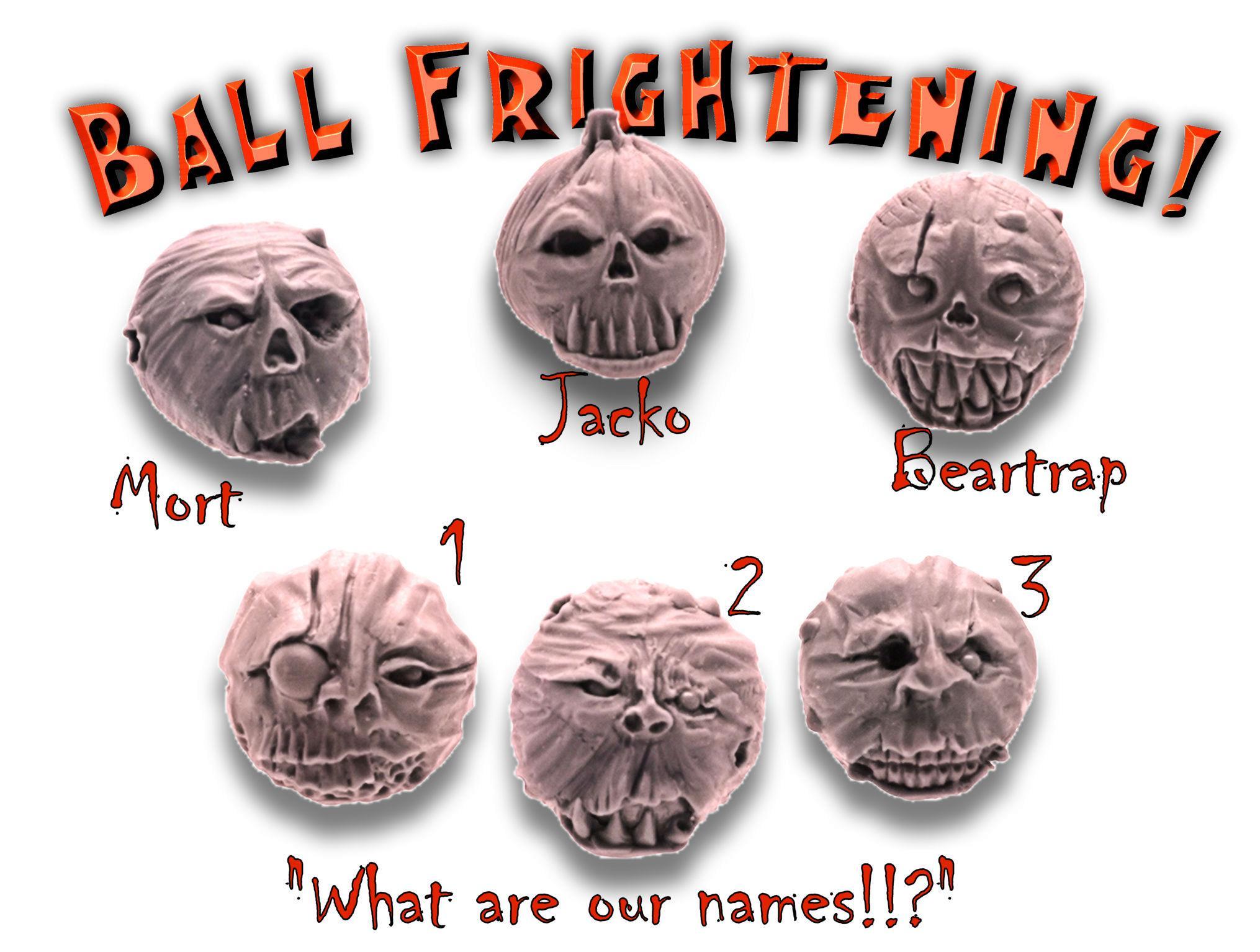 Ballmonsters, Balls, Halloween, Horro, Monsters