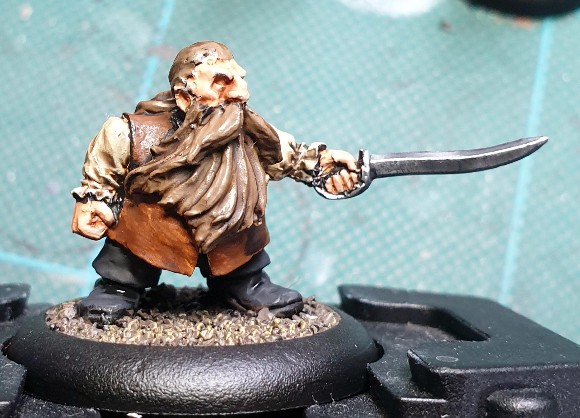 Black Scorpion Miniatures, Dwarves, Pirate, Work In Progress