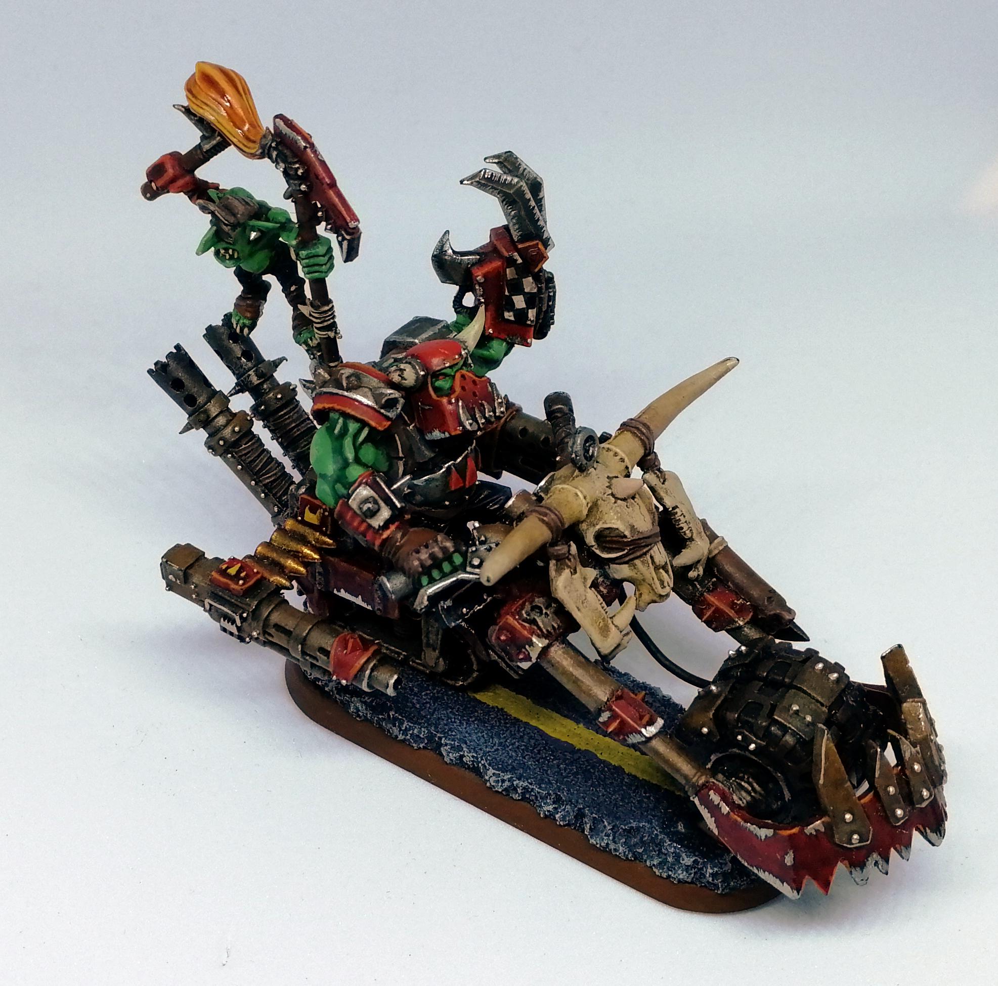Bike, Evil Sunz, Fast, Orks, Speedfreeks, Waaagh!, Warbike, Warboss, Warhammer 40,000