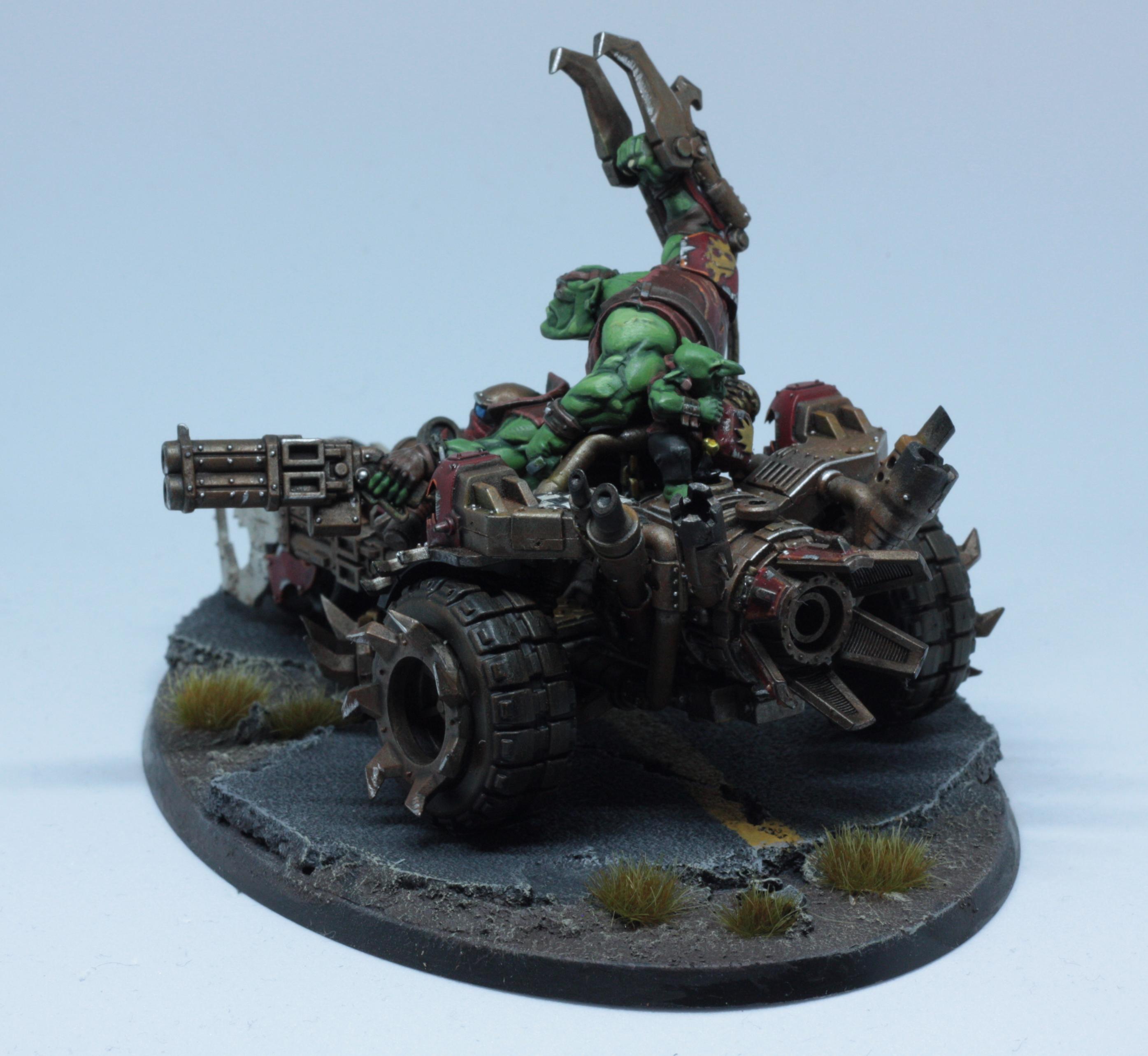 Boss, Deffkilla Wartrike, Evil Sunz, Headquarters, Orks, Speedfreeks, Vehicle, Warhammer 40,000