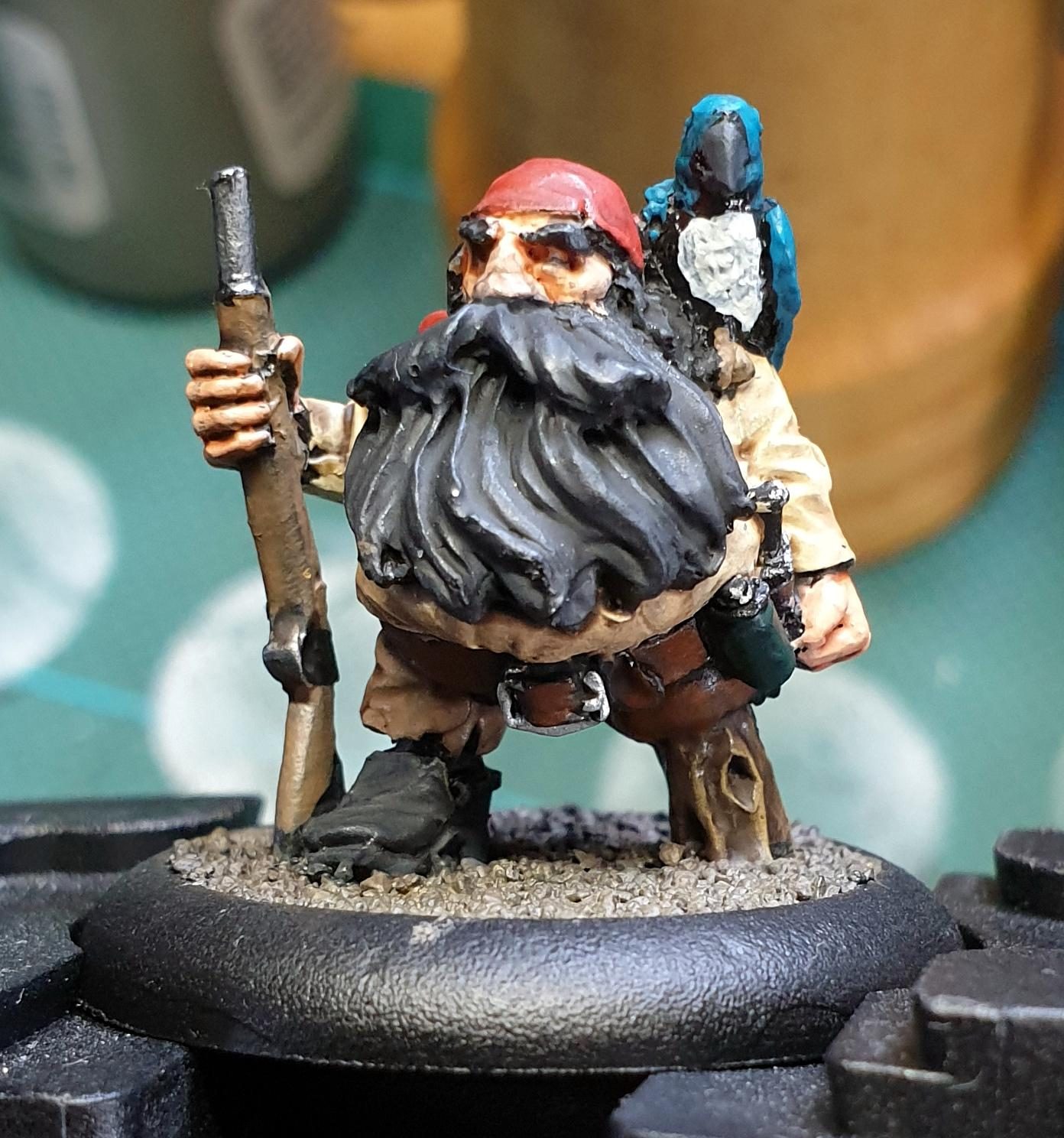 Black Scorpion Miniatures, Dwarves, Pirate, Work In Progress