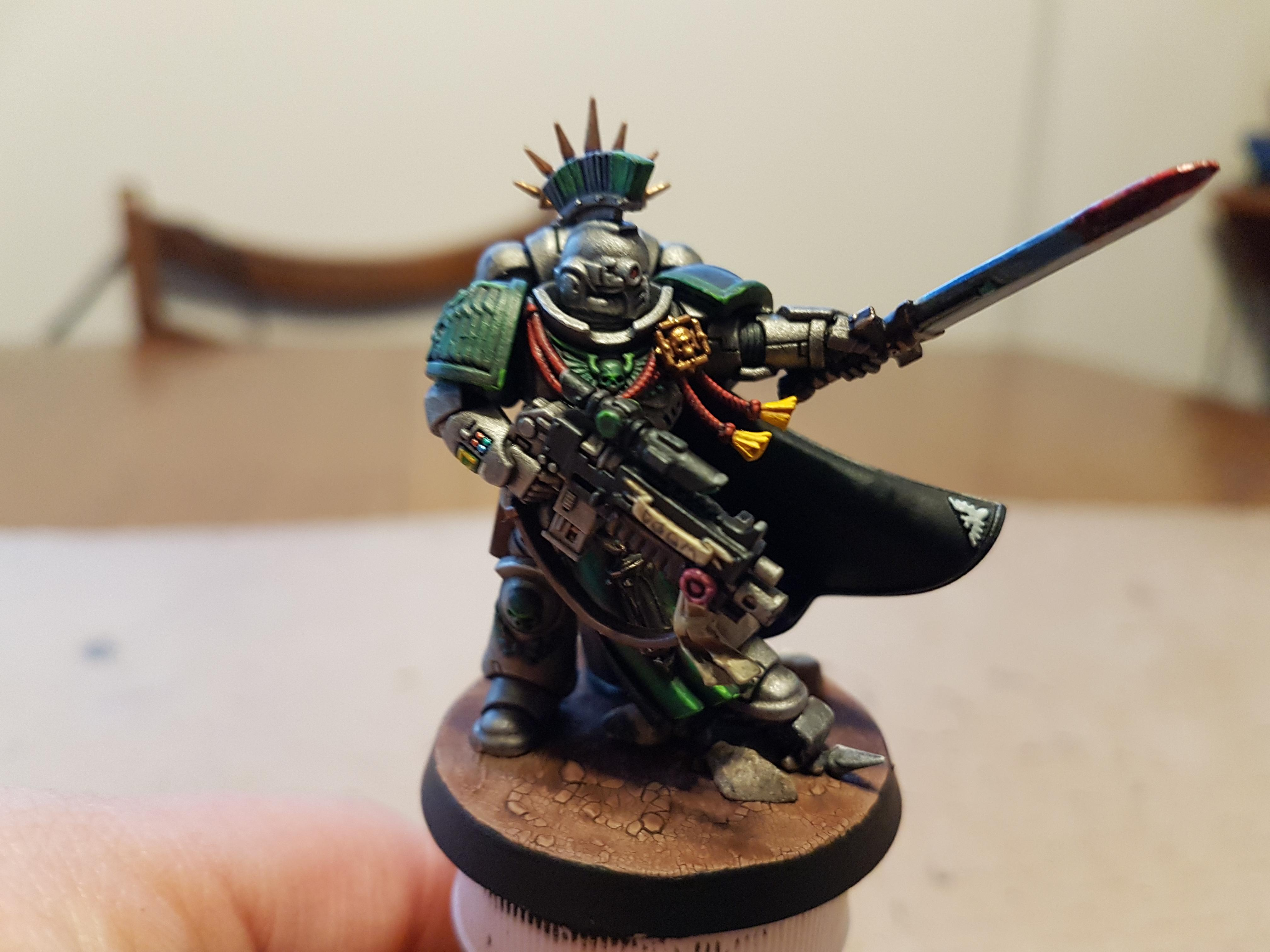 Captain, Cloak, Doom Legion, Iron Halo, Master-crafted Power Sword, Master-crafted Stalker Pattern Bolt Rifle, Power Sword, Primaris, Primaris Captain
