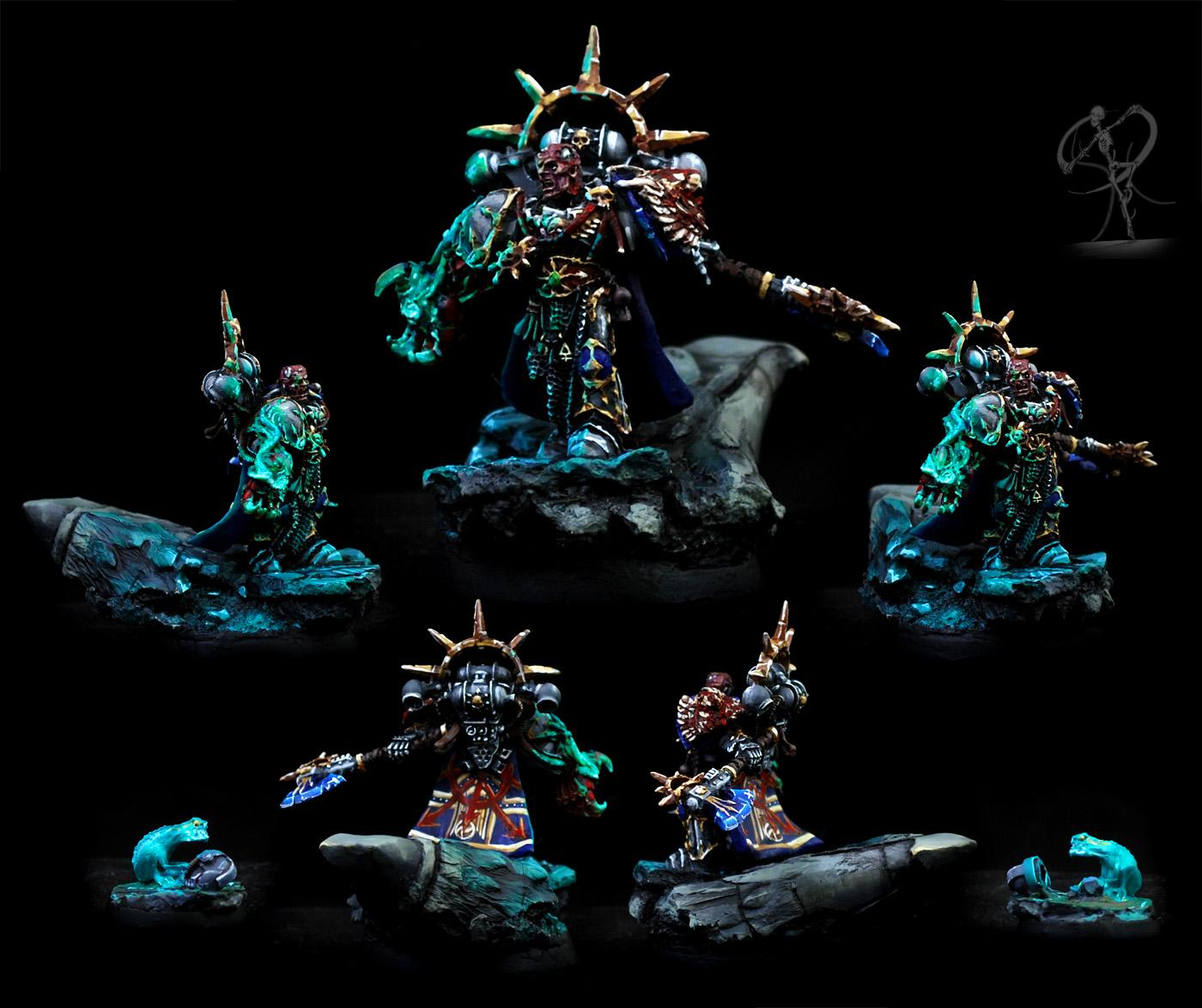 Astral Claws, Chaos, Chaos Space Marines, Daemons, Freehand, Non-Metallic Metal, Object Source Lighting, Psykers, Red Corsairs, Space Marines, Warhammer 40,000
