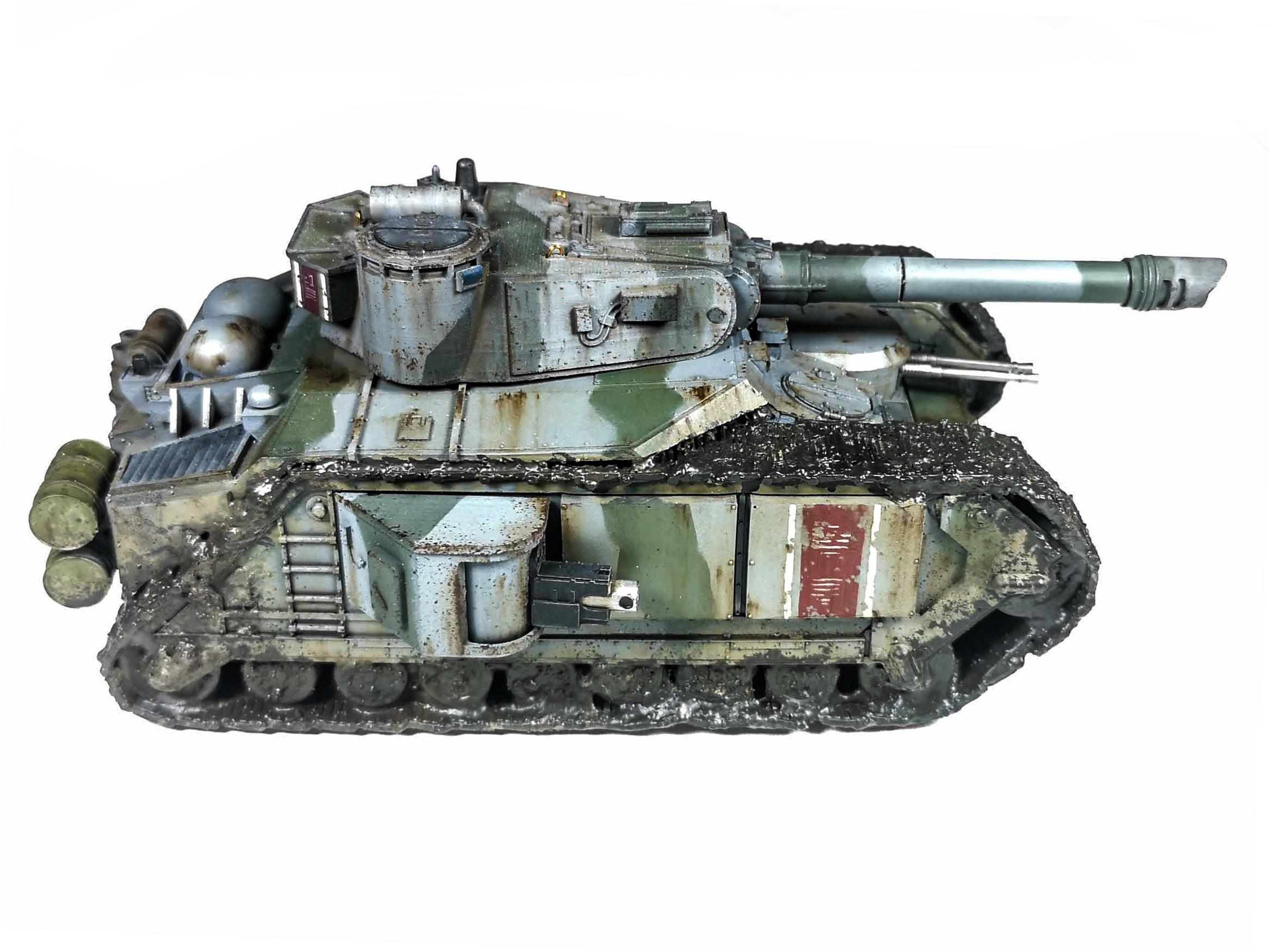 Camouflage, Imperial Guard, Leman Russ Conversion, Mortian, Tank, Weathered