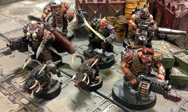 Astra Militarum, Bullgryn, Bullgryns, Conversion, Kill Team, Ogres, Ogryn Bodyguard, Ogryns, Warhammer 40,000