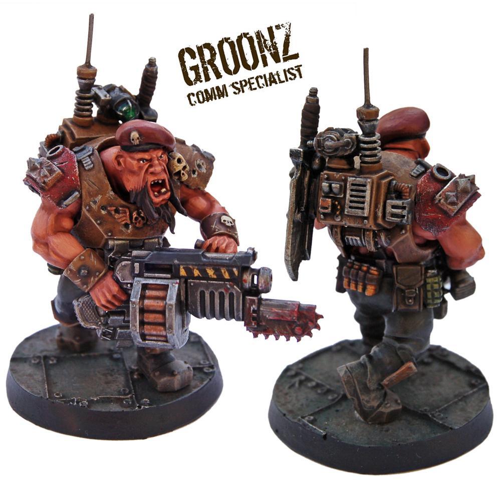 Astra Militarum, Bullgryn, Bullgryns, Comm Specialist, Conversion, Kill Team, Ogres, Ogryn Bodyguard, Ogryns, Warhammer 40,000