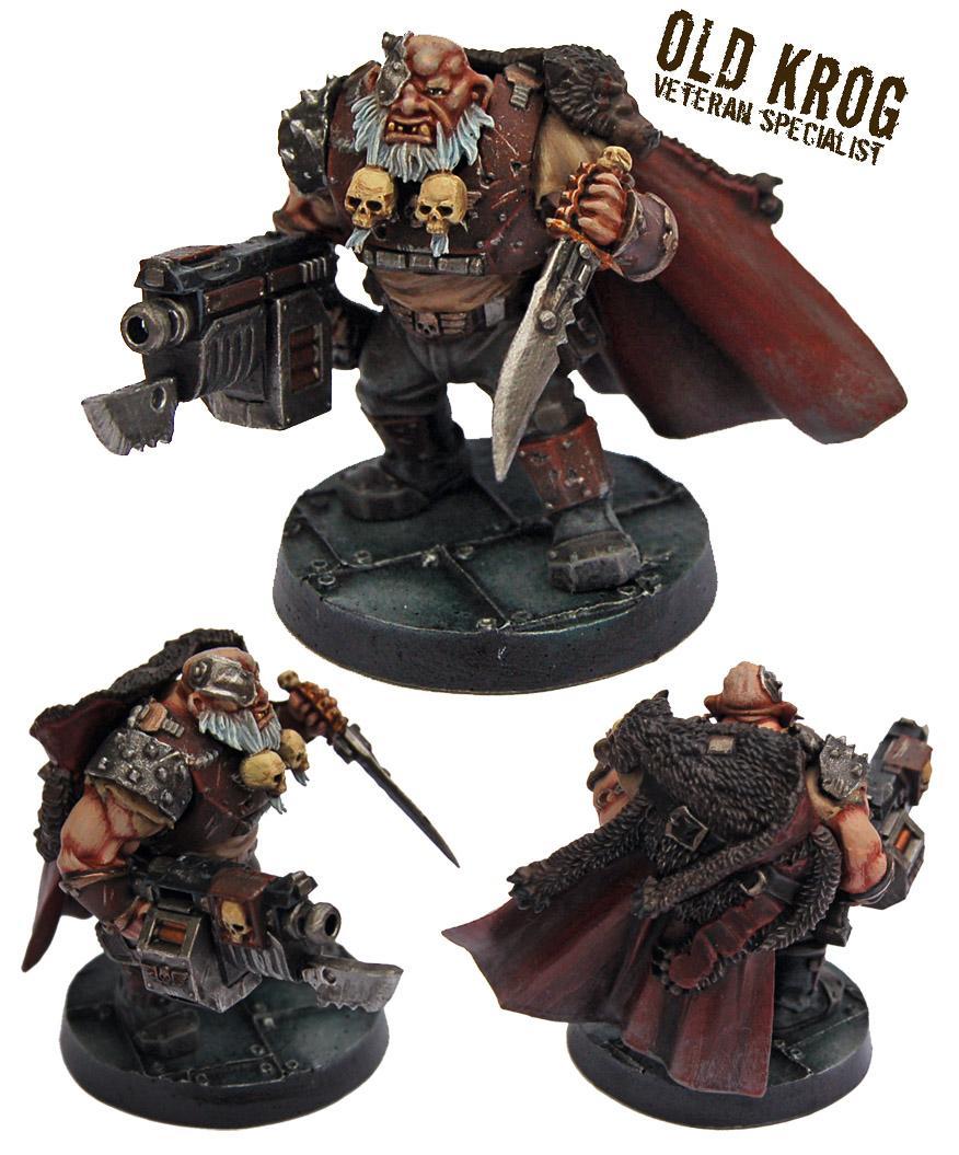 Astra Militarum, Bullgryn, Bullgryns, Conversion, Kill Team, Nork Deddog, Ogres, Ogryn Bodyguard, Ogryns, Warhammer 40,000