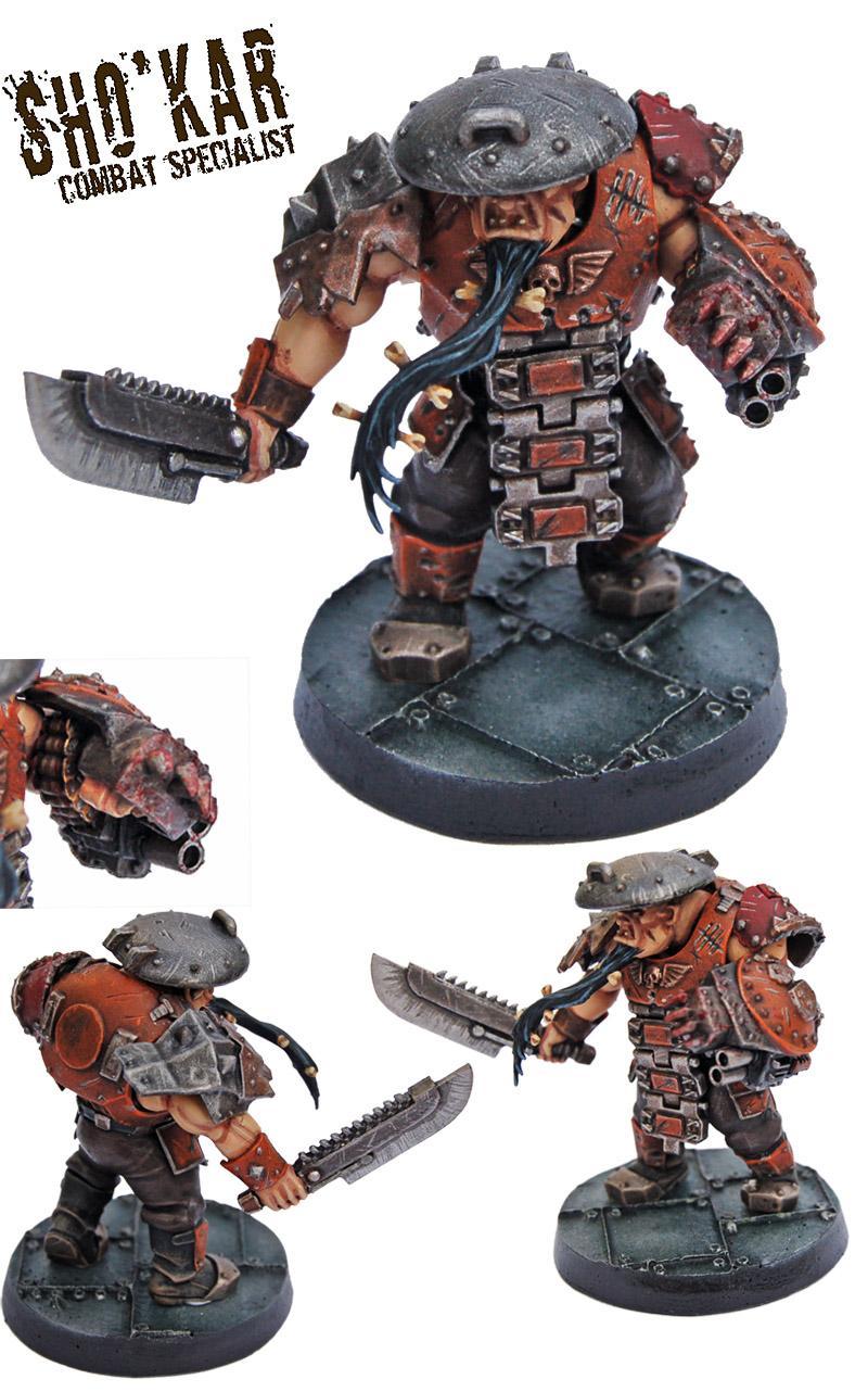Astra Militarum, Bullgryn, Bullgryns, Conversion, Hired Guns, Kill Team, Necromunda, Ogres, Ogryn Bodyguard, Ogryns, Warhammer 40,000