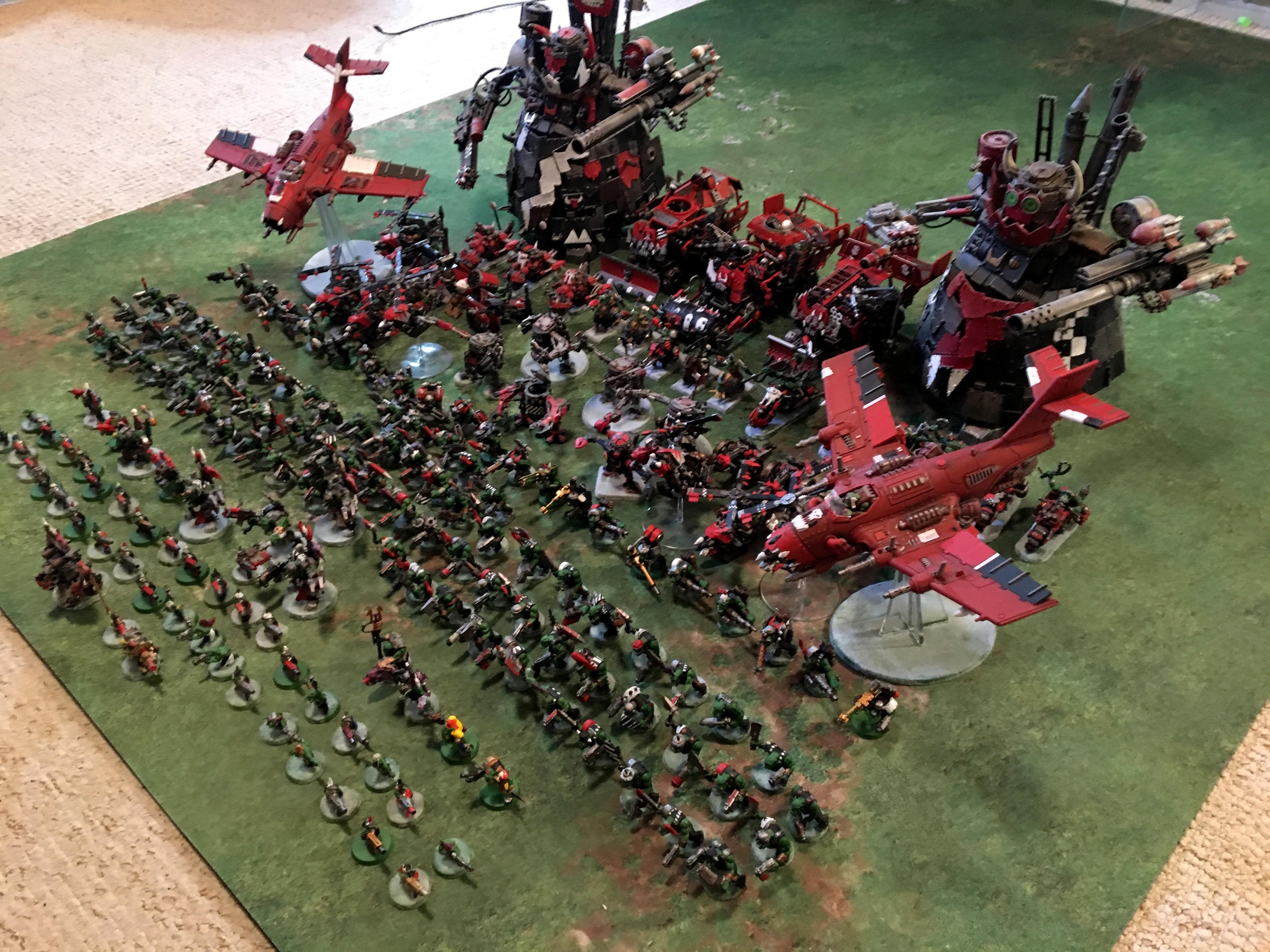 Army, Big, Goffs, Huge, Orks, Points, Waaagh, Warhammer 40,000, Warhammer Fantasy