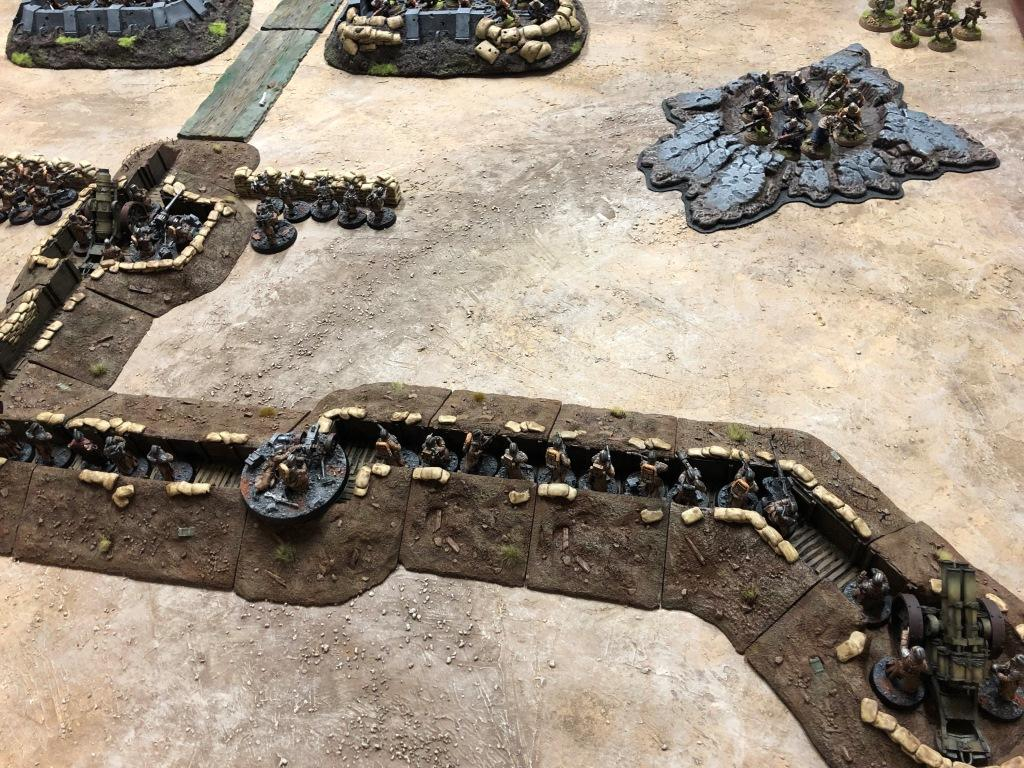 Artillery, Death Korps of Krieg, Imperial Guard, Terrain, Trench