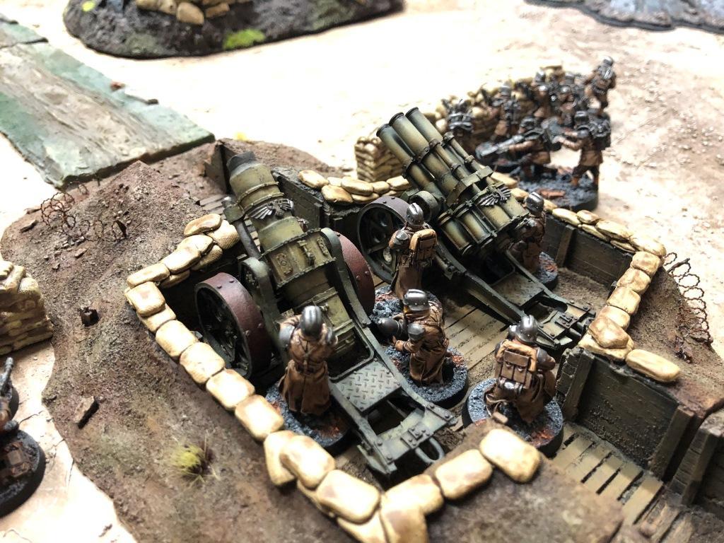 Artillery, Death Korps of Krieg, Imperial Guard, Terrain, Trench