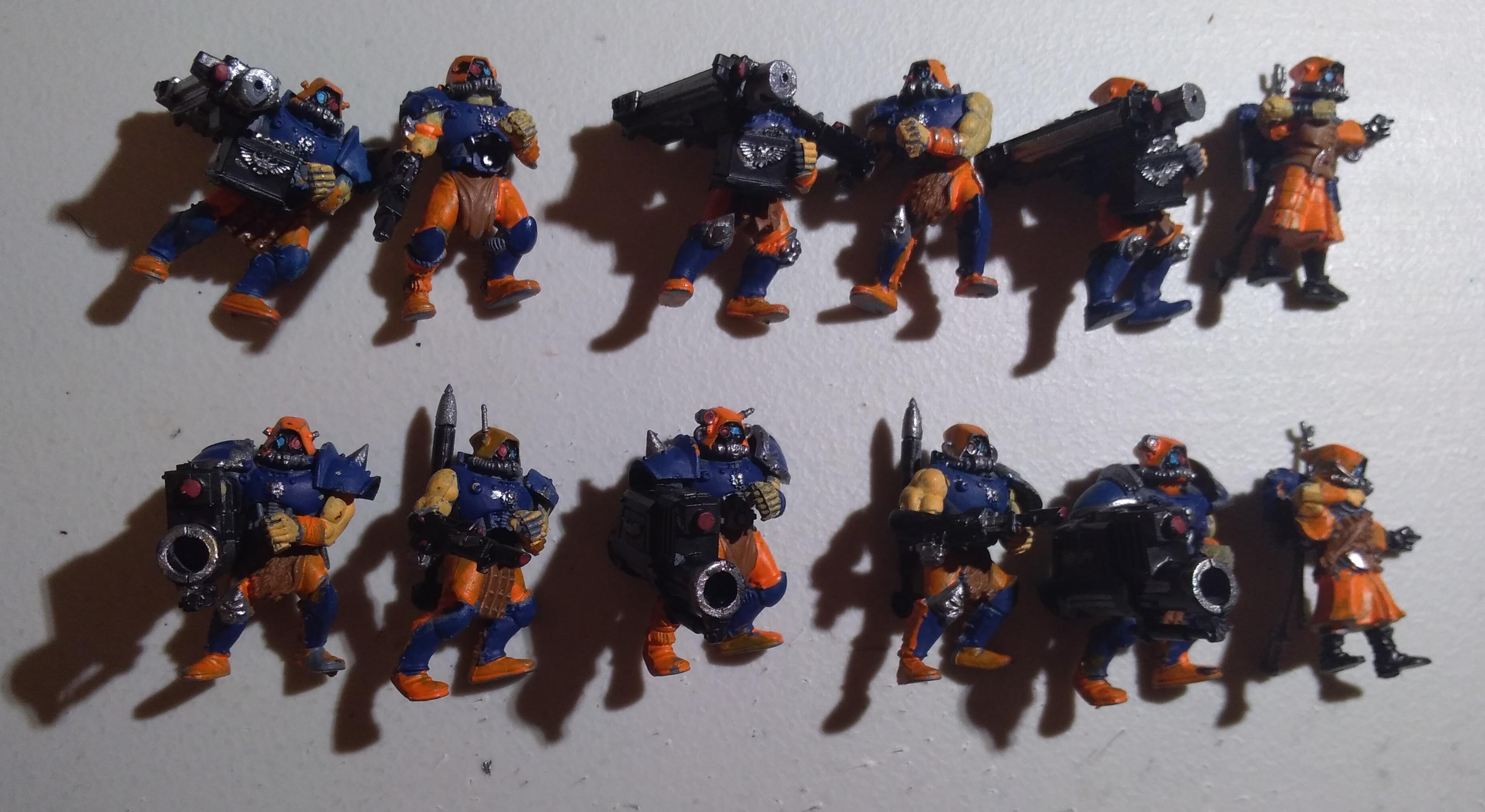 Adeptus Arbites, Gun, Heavy Weapon, Imperial Guard, Penal Legion, Servitors, Work In Progress