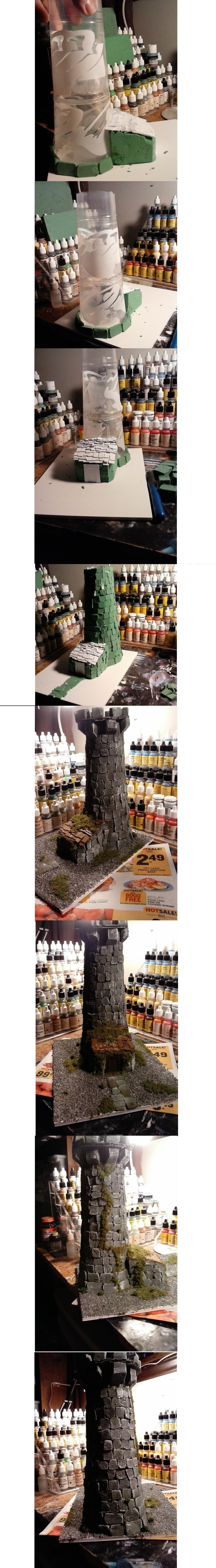 Built, Moss, Scratch, Tower, Weathered