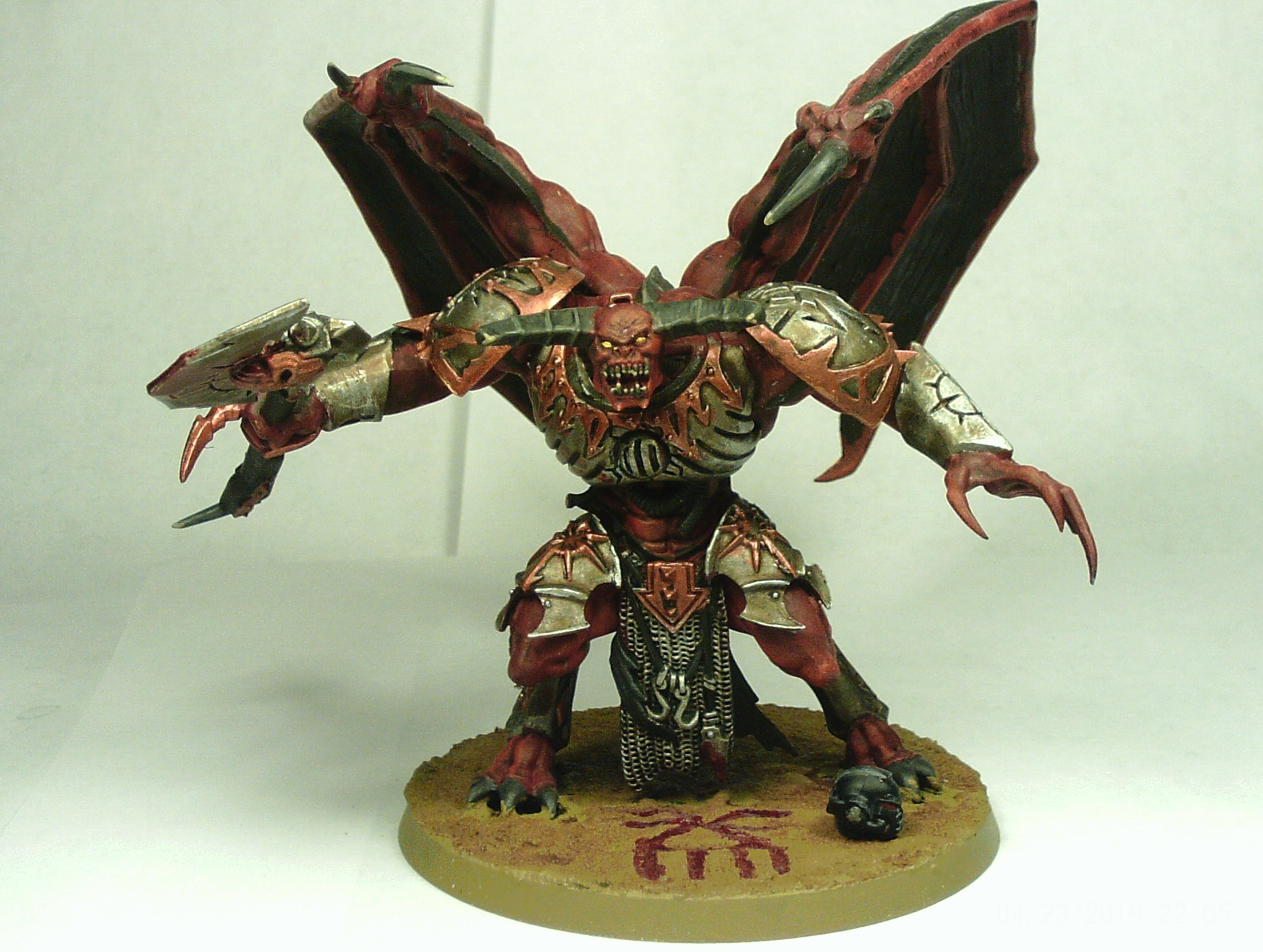 Axe, Blood, Chaos, Daemons, Khorne, Prince, Skull, Winged