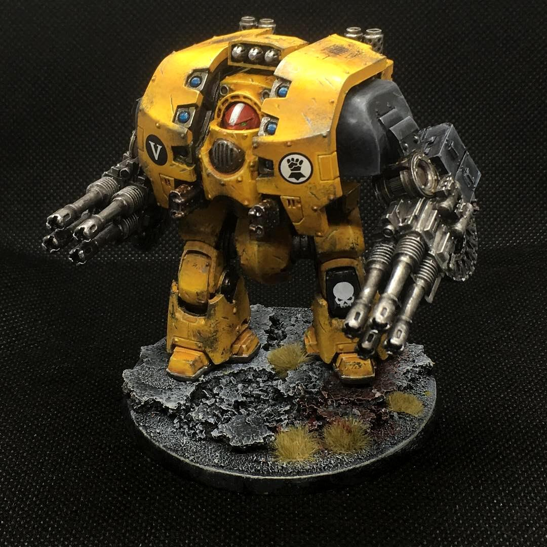 Imperial Fists, Leviathan Dreadnought, Space Marines, Warhammer 40,000