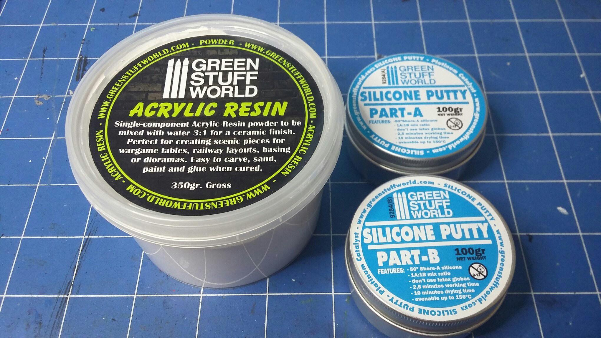 Acrylic, Casting, Greenstuff, Mould, Part, Putty, Resin, Silicone, Two, World