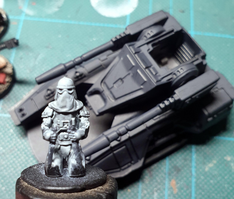 Imperial Assault, Snowtrooper, Tank, Work In Progress