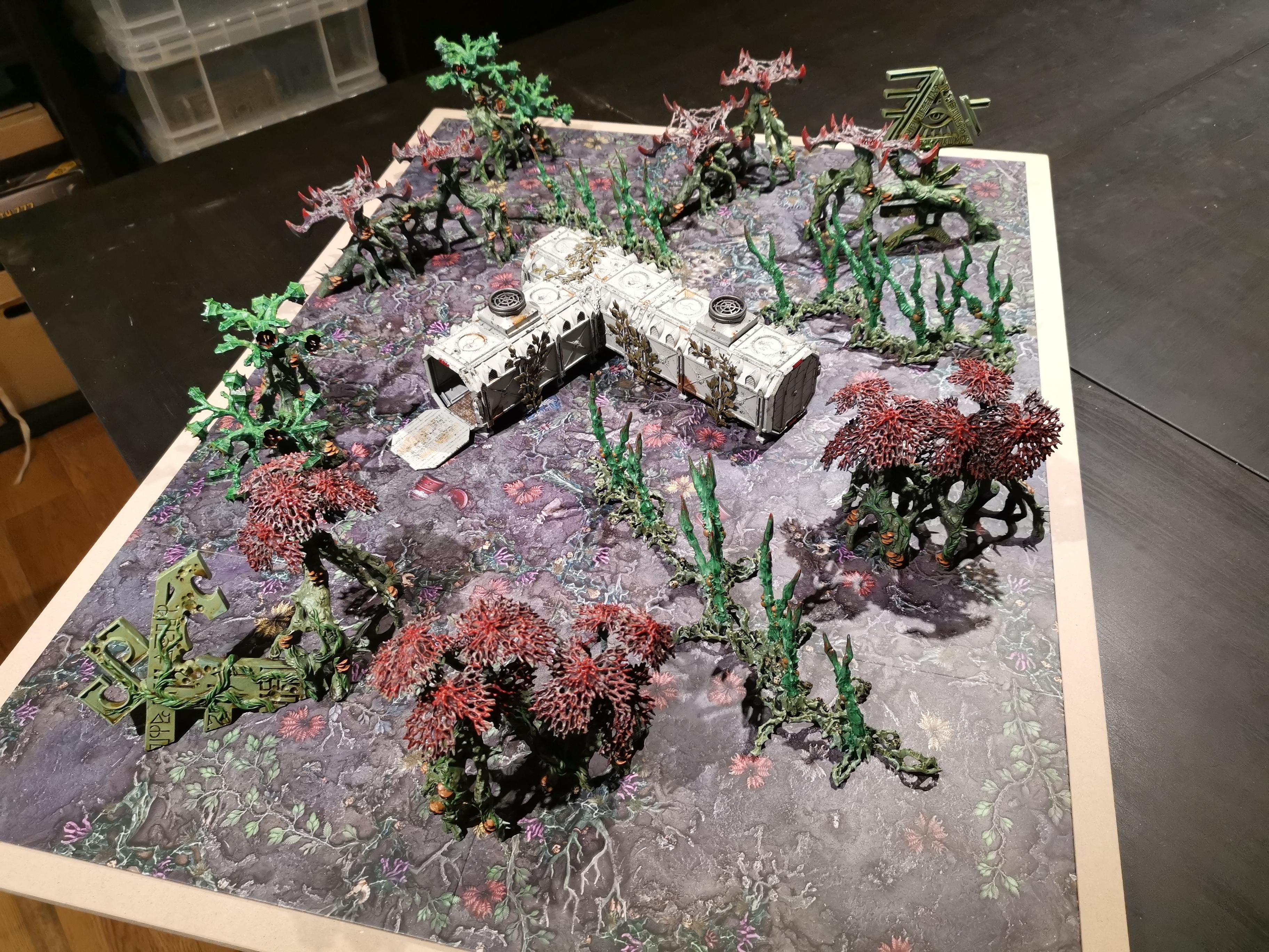 Battlemat, Eldar, Imperium, Jungle, Kill Team, Terrain, Warhammer 40,000, Warhammer Fantasy