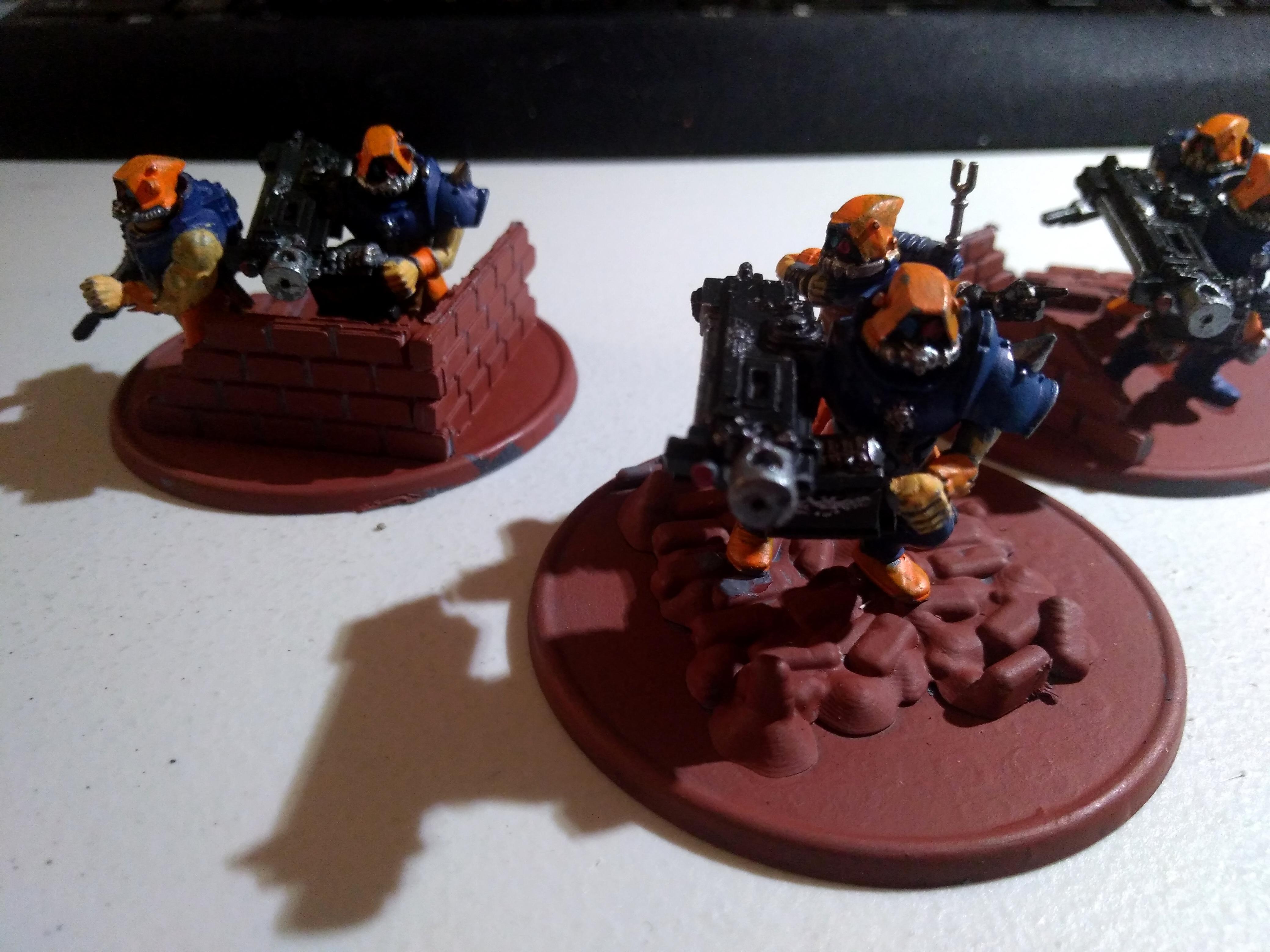 Adeptus Arbites, Gun, Heavy Weapon, Imperial Guard, Penal Legion, Servitors