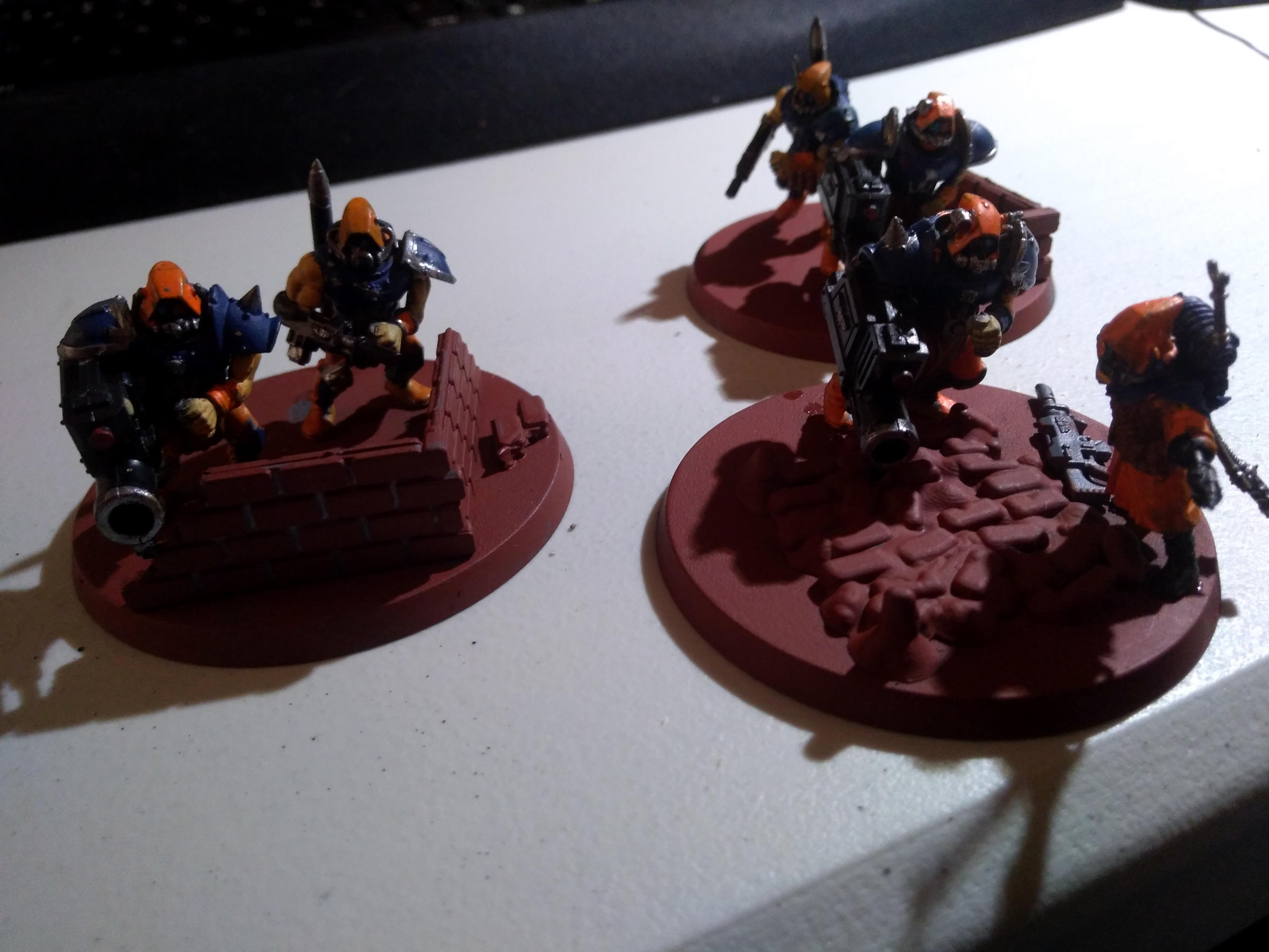 Adeptus Arbites, Gun, Heavy Weapon, Imperial Guard, Penal Legion, Servitors