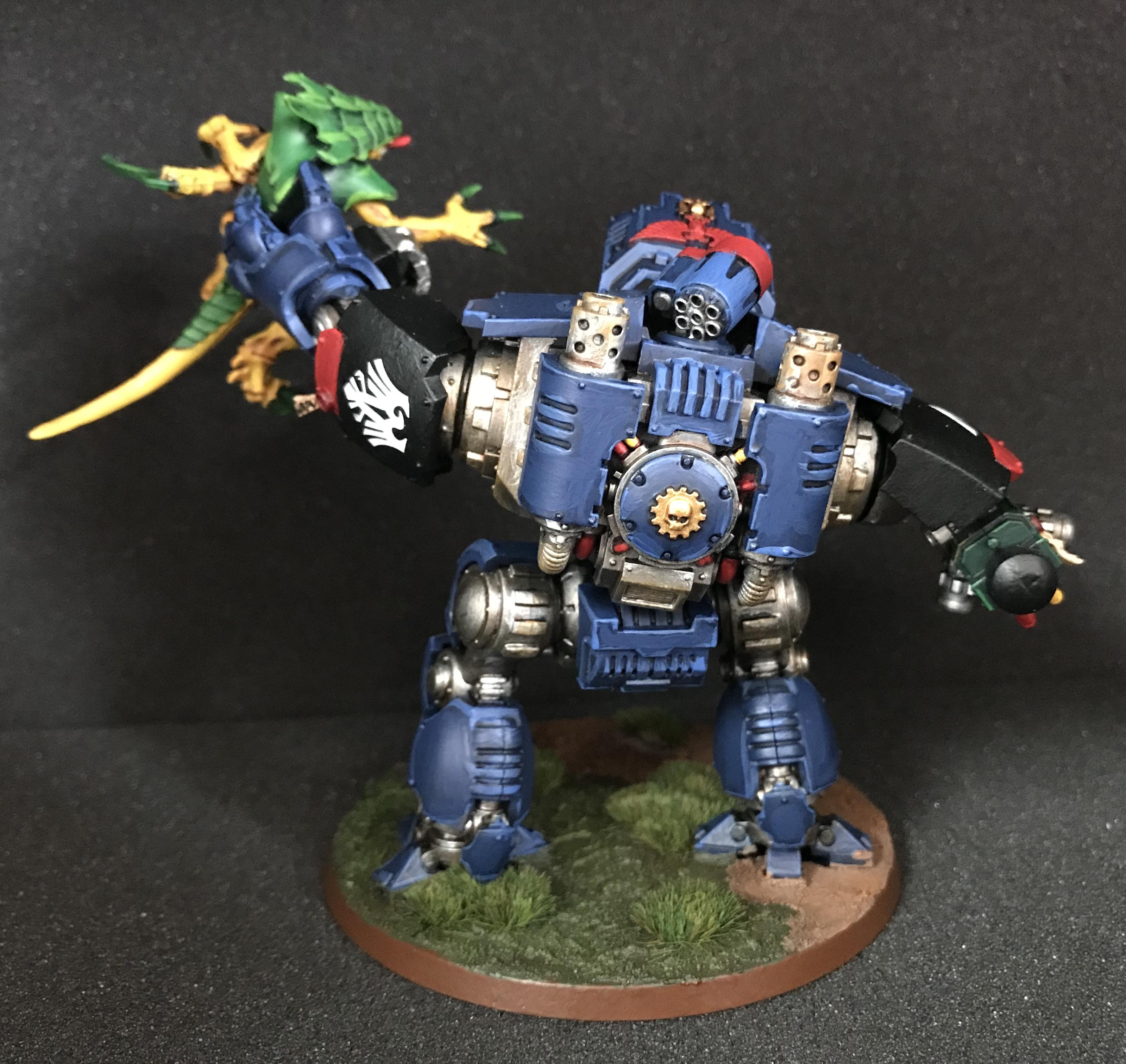 Finished Night Ravens Redemptor lifting Tyranid Warriror - back