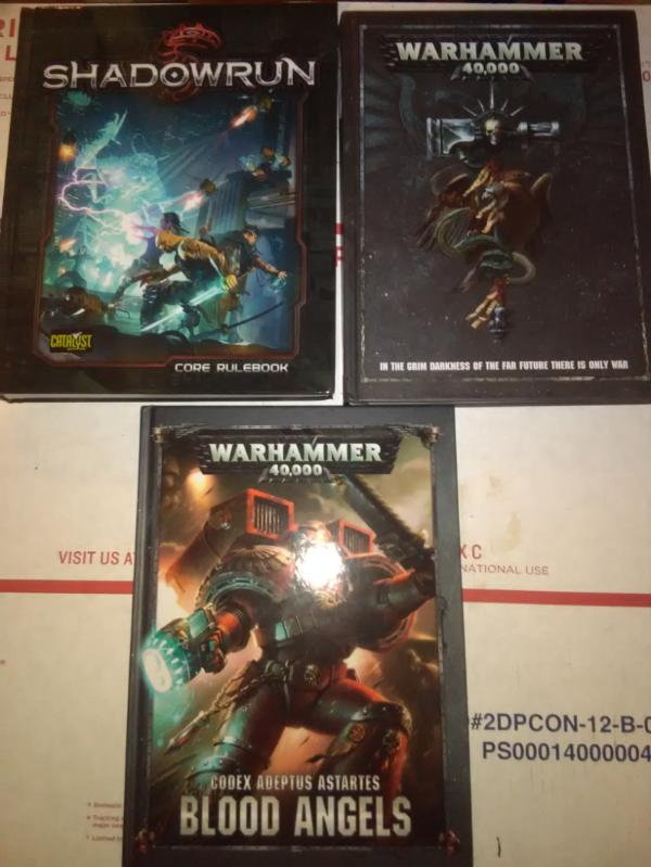 H] 40k Rulebook/Codex, Shadowrun [W] $, Primaris, KT, Star Trek [USA