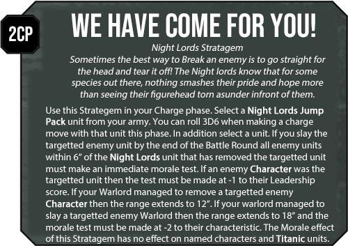 Chaos Space Marines, Heretic Astartes Warhammer 40k, Homebrew Rules, Night Lords, Proposed Rules