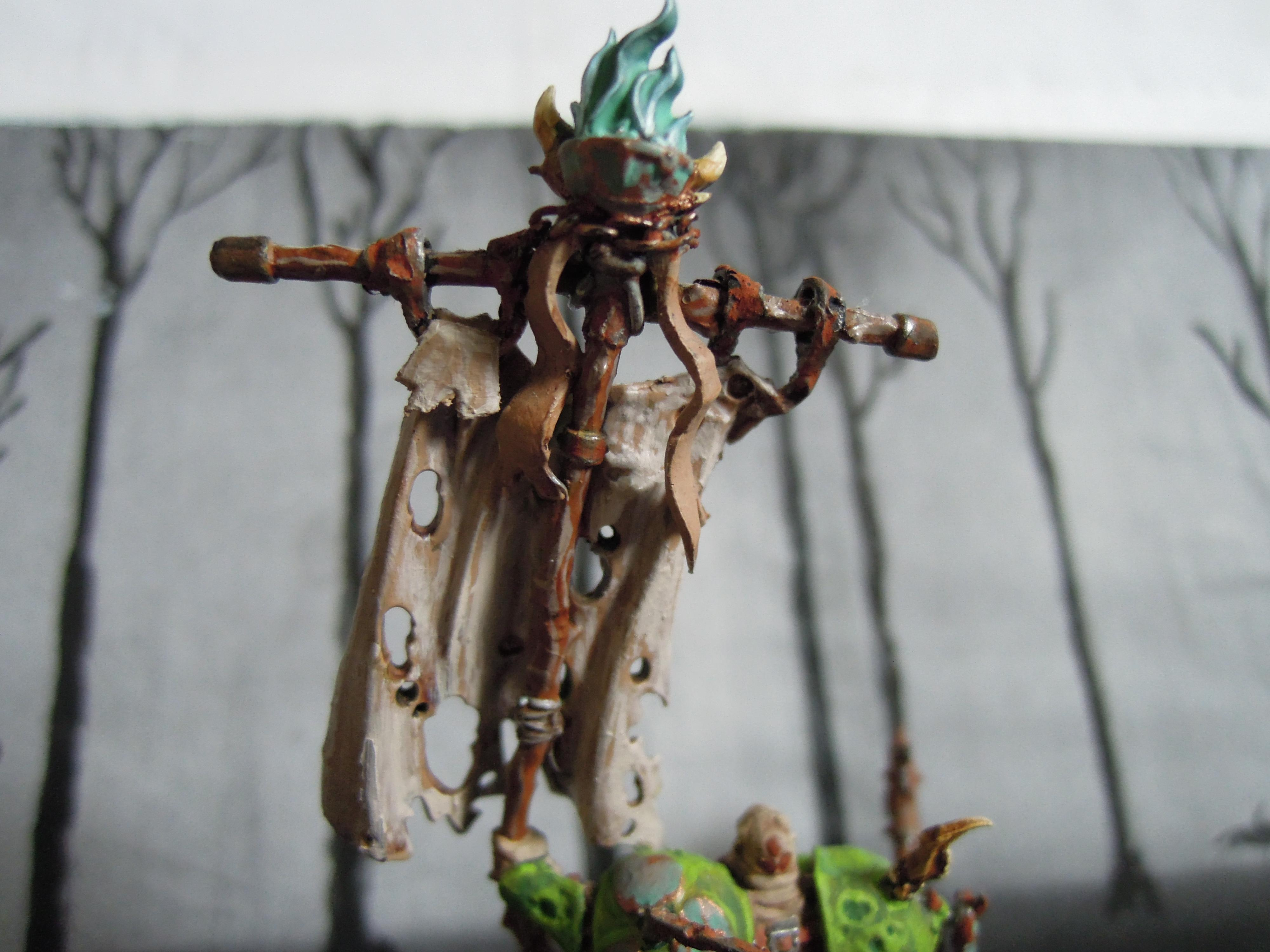 Axe, Banner, Blight, Boils, Buboes, Chaos, Conversion, Glottkin, Lord, Nurgle, Otto Glott, Plague, Rot, Spoilage, Warriors