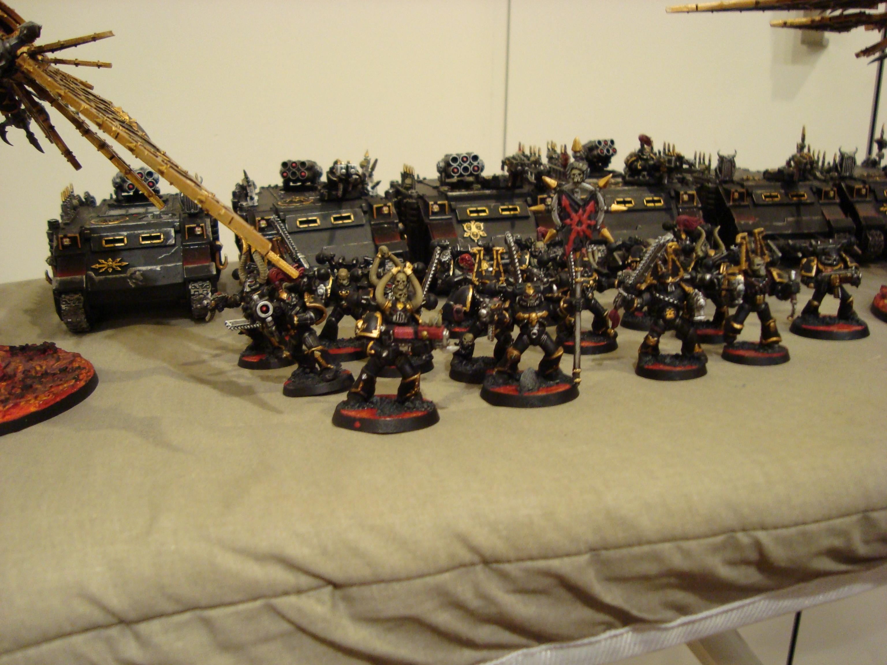 Chaos, Chaos Space Marines, Rhinos, Space Marines, Warhammer 40,000