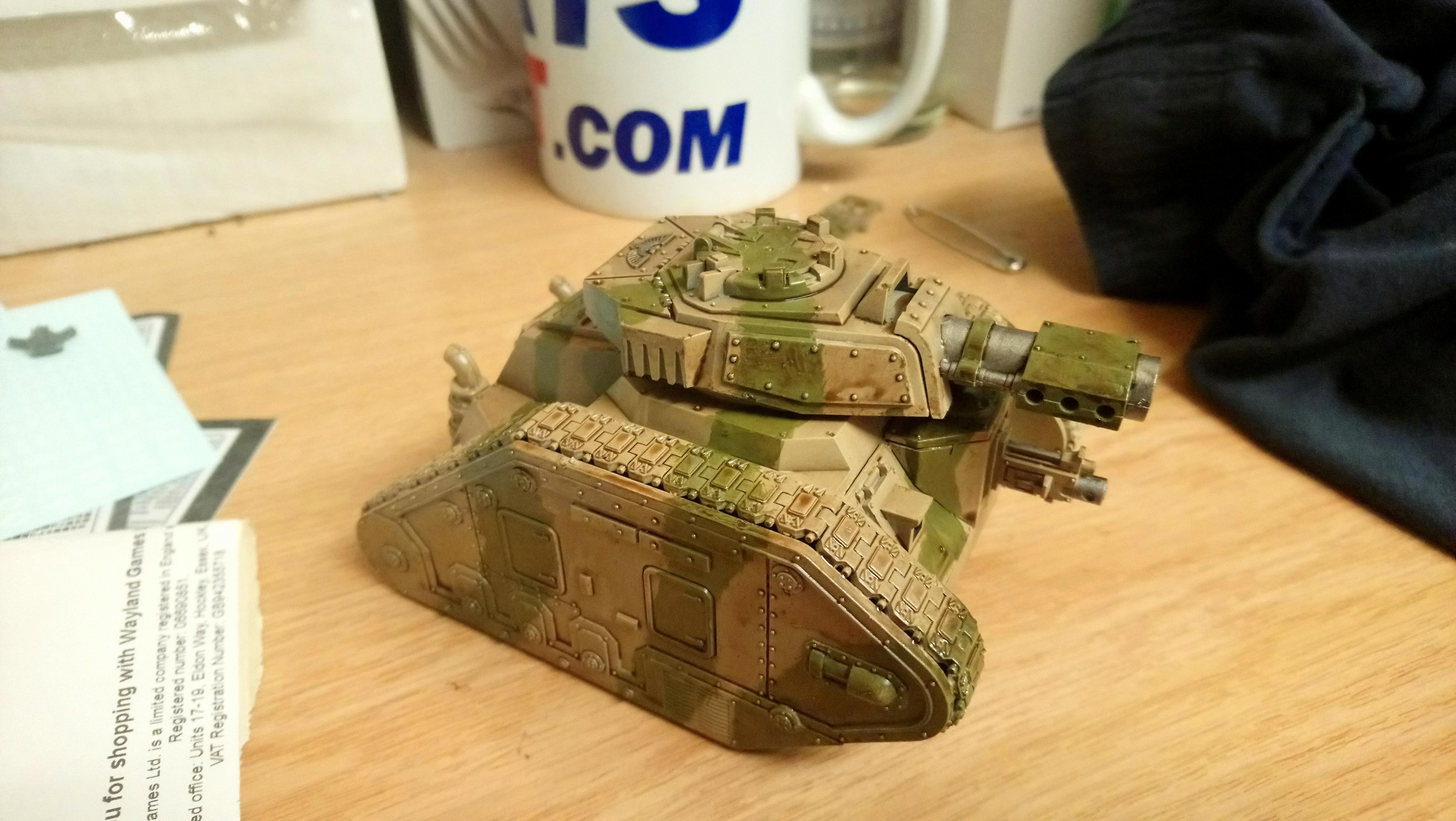 Camouflage, Leman Russ, Painted, Tank, Warhammer 40,000