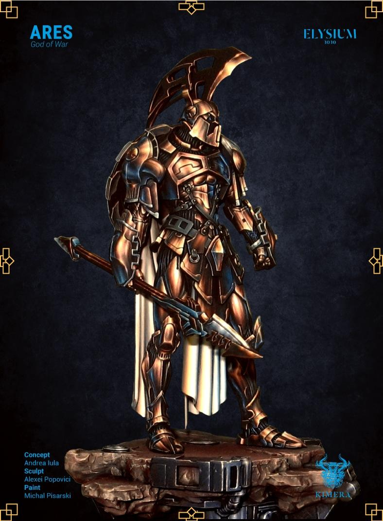 Area, Armor, God Of War, Gods, Gold, Pro-painted