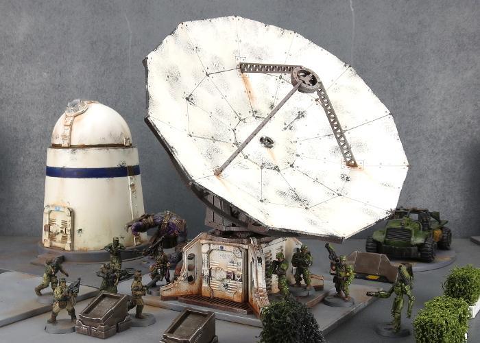 Maelstrom's Edge, Mdf Terrain Medge, Radar, Satelite Dish, Sensor Dish, Terrain
