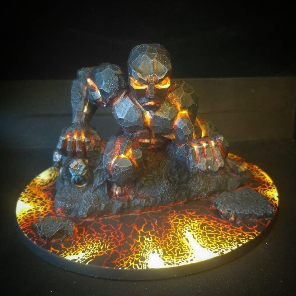Earth Elemental, Fire, Lava
