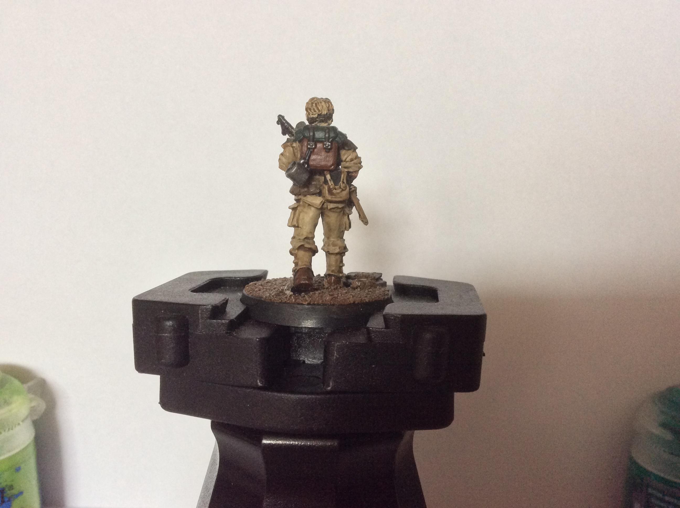 Astra Militarum, Female, Grrrl, Imperial Guard, Minervan Guard, Shotgun, Veteran, Victoria Miniatures, Warhammer 40,000