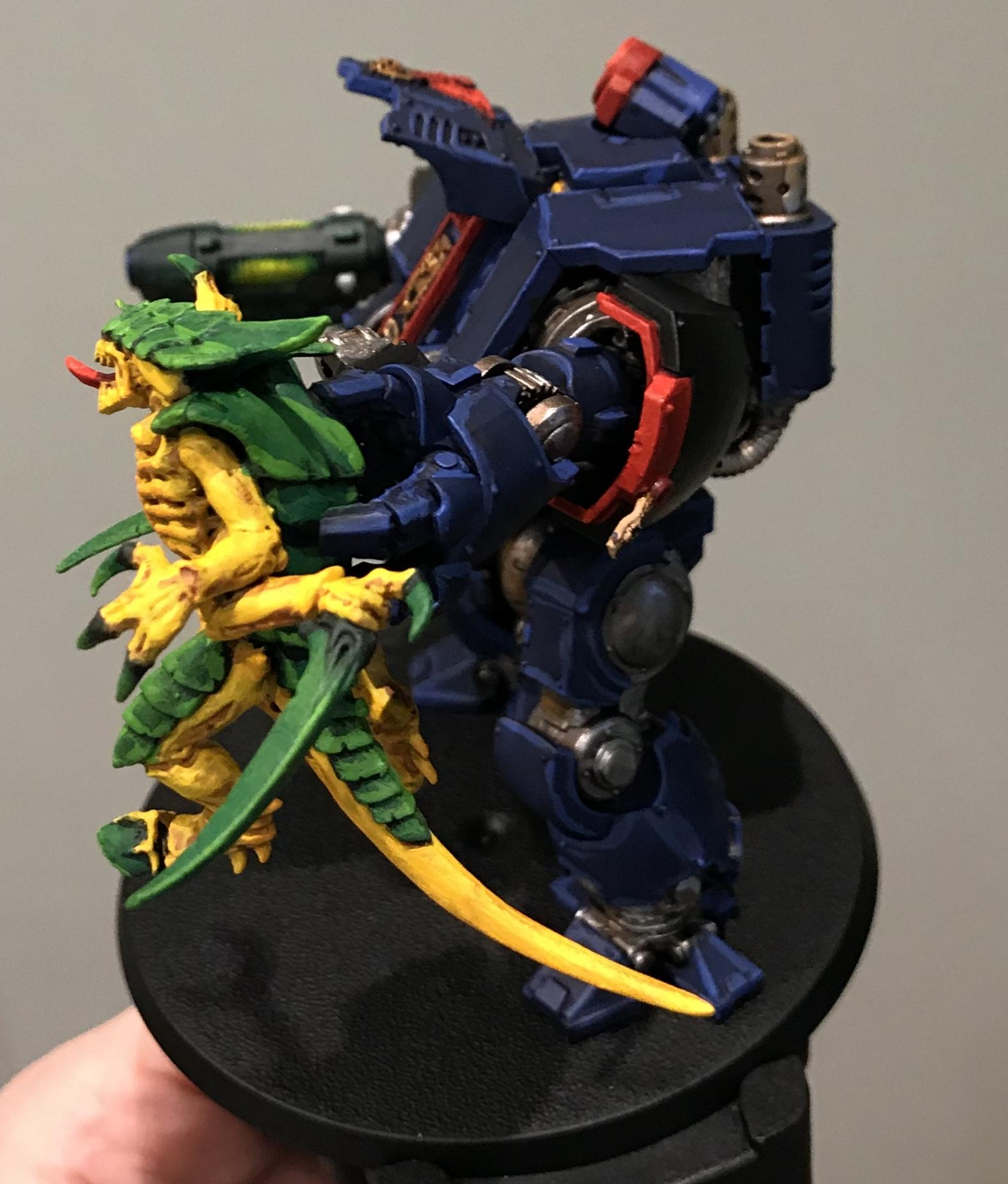 Night Ravens Redemptor lifting Tyranid Warrior Highlighted - left