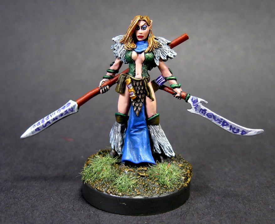 D, Dark Heaven Legends, Druid, Ishara Snowfinch, Painted Reaper Miniature, Reaper Minis, Reaper Painted Miniature, Rpg Miniature