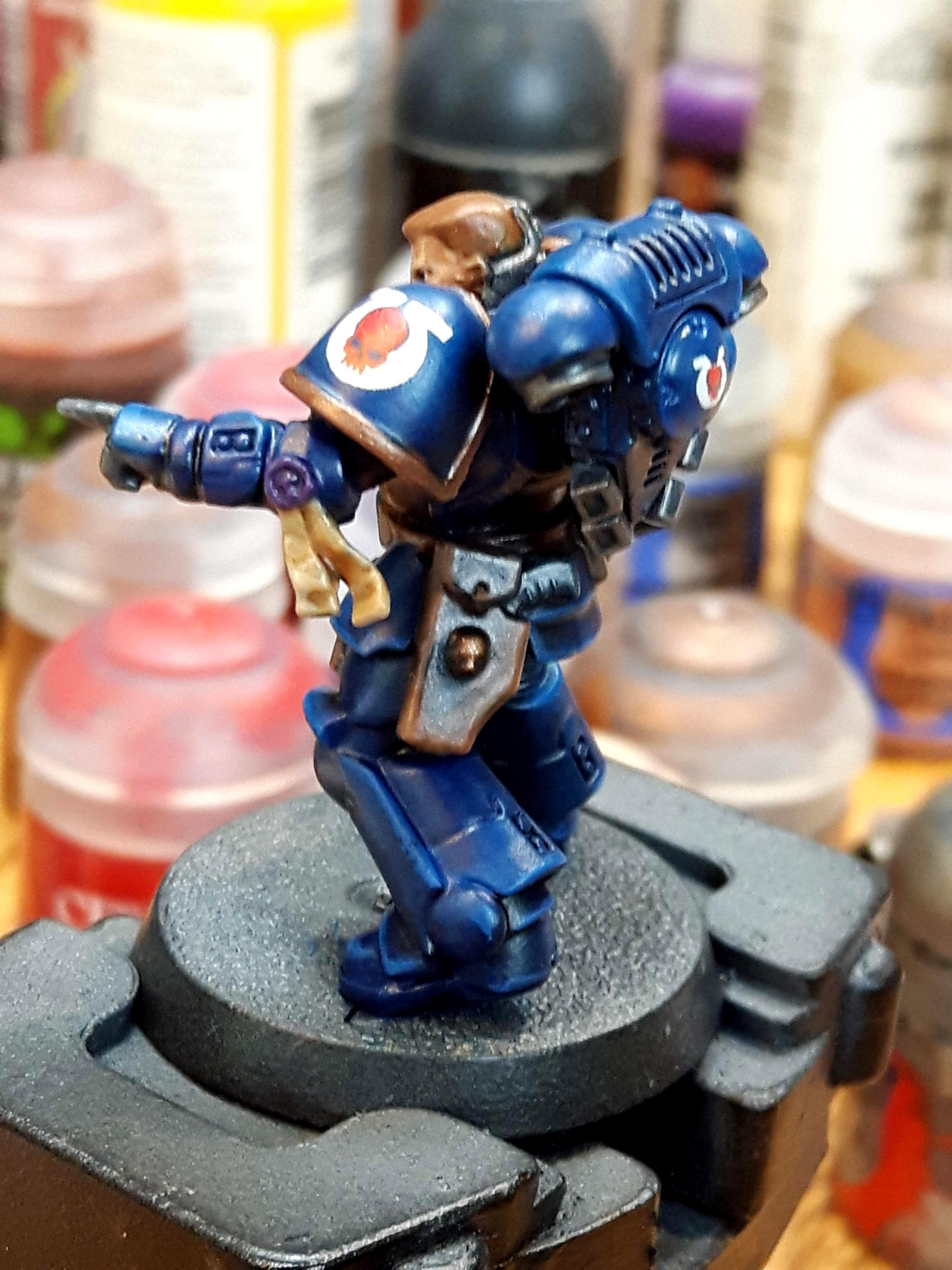 Colour Scheme, Paint Job, Primaris, Sergeant, Space Marines, Test Model, Ultramarines