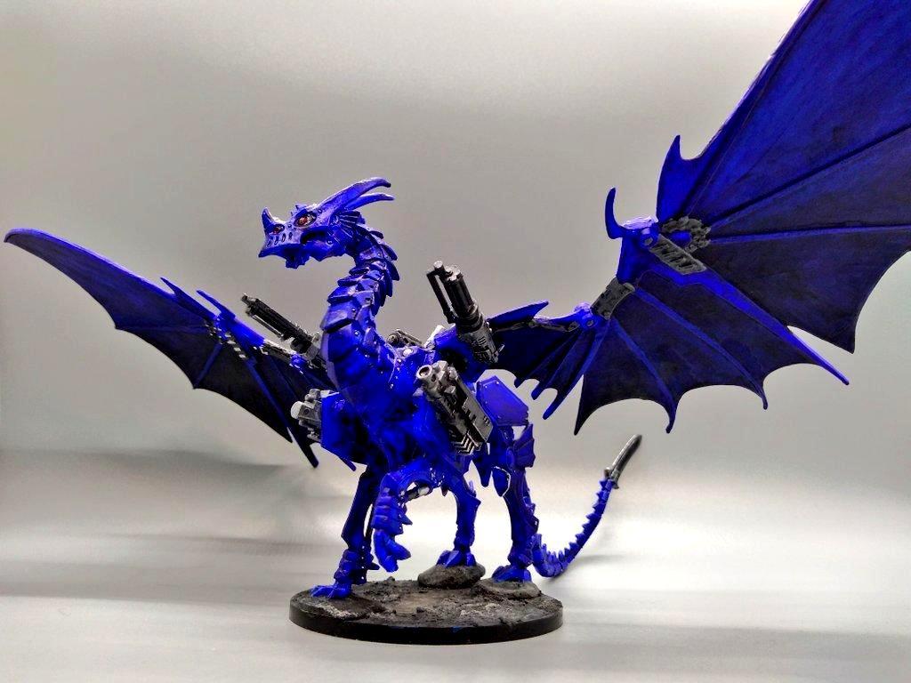 Blue, Dragon, Gargantuan, Mecha