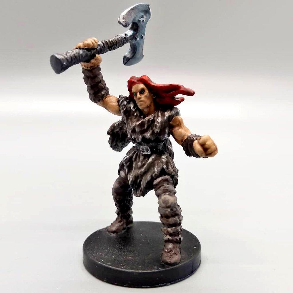 Barbarian, Human, Red Hair, Rugged