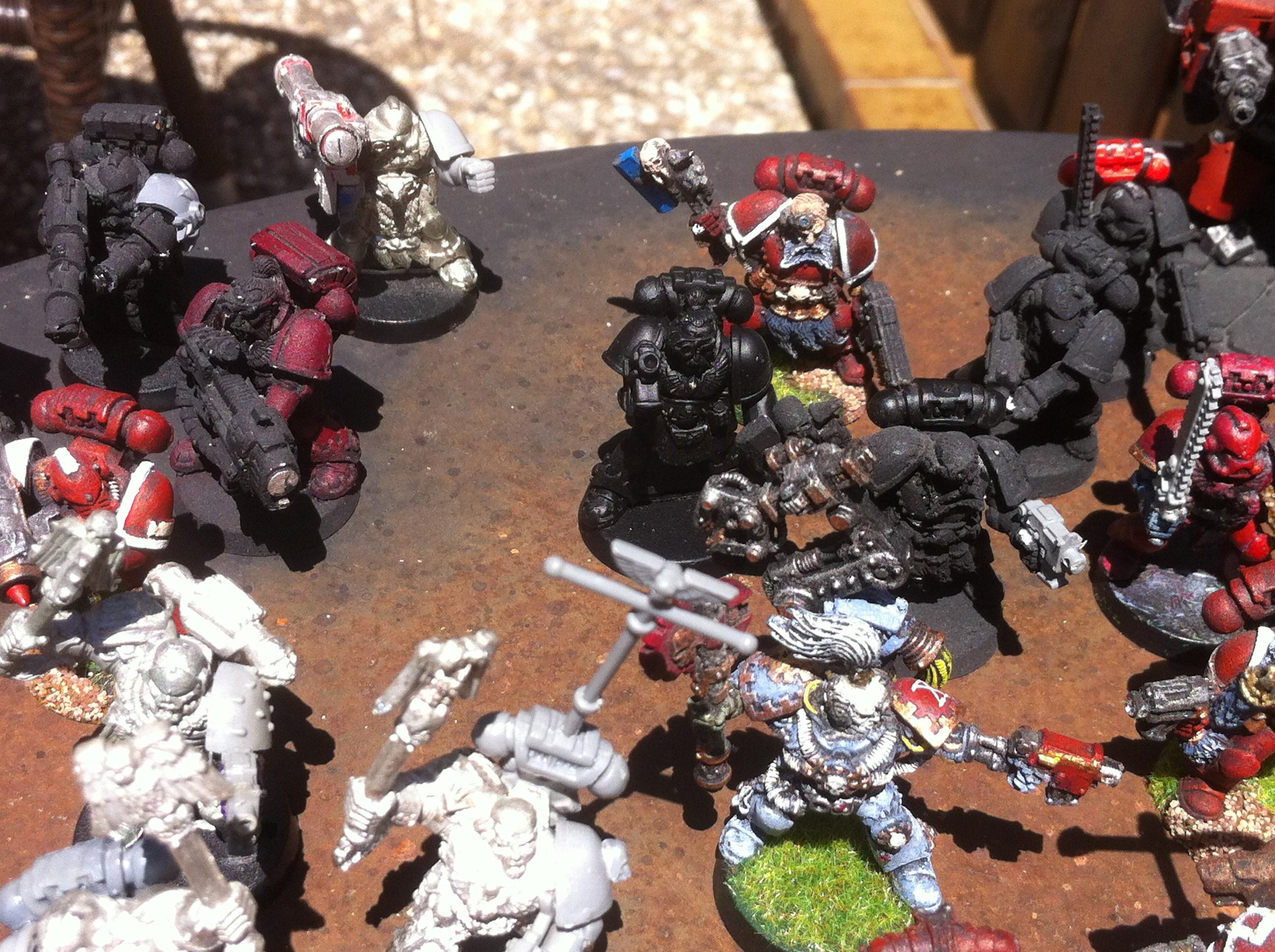 Old, Oldhammer, Red, School, Space, Space Marines, Wolfbrothers, Wolves