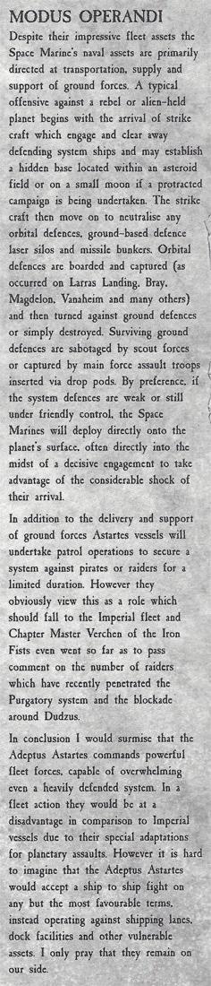 Space Marines MO