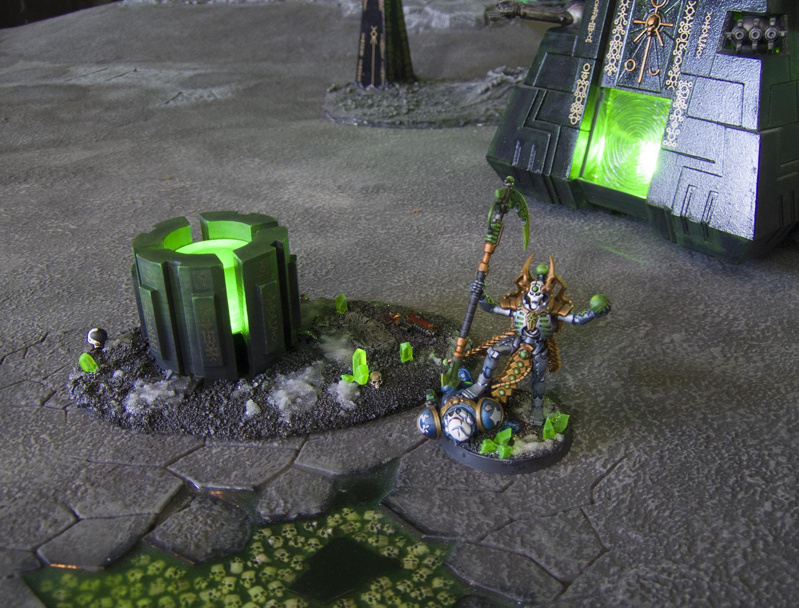 3d Printed, Led Lighting, Necrons, Scatter Terrain