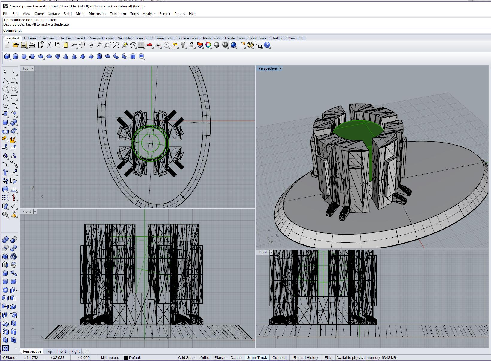 Necron 3D printed LED lighted scatter terrain 09